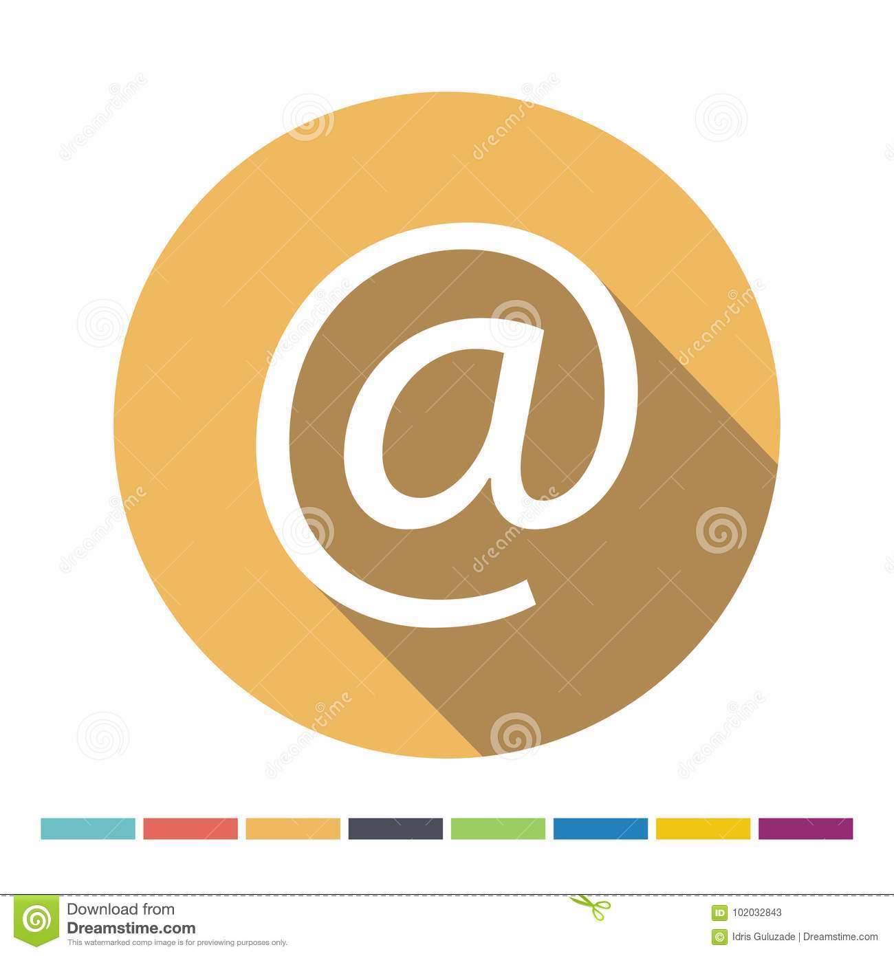 Email Symbol Icon Stock Vector Illustration Of Paper 102032843