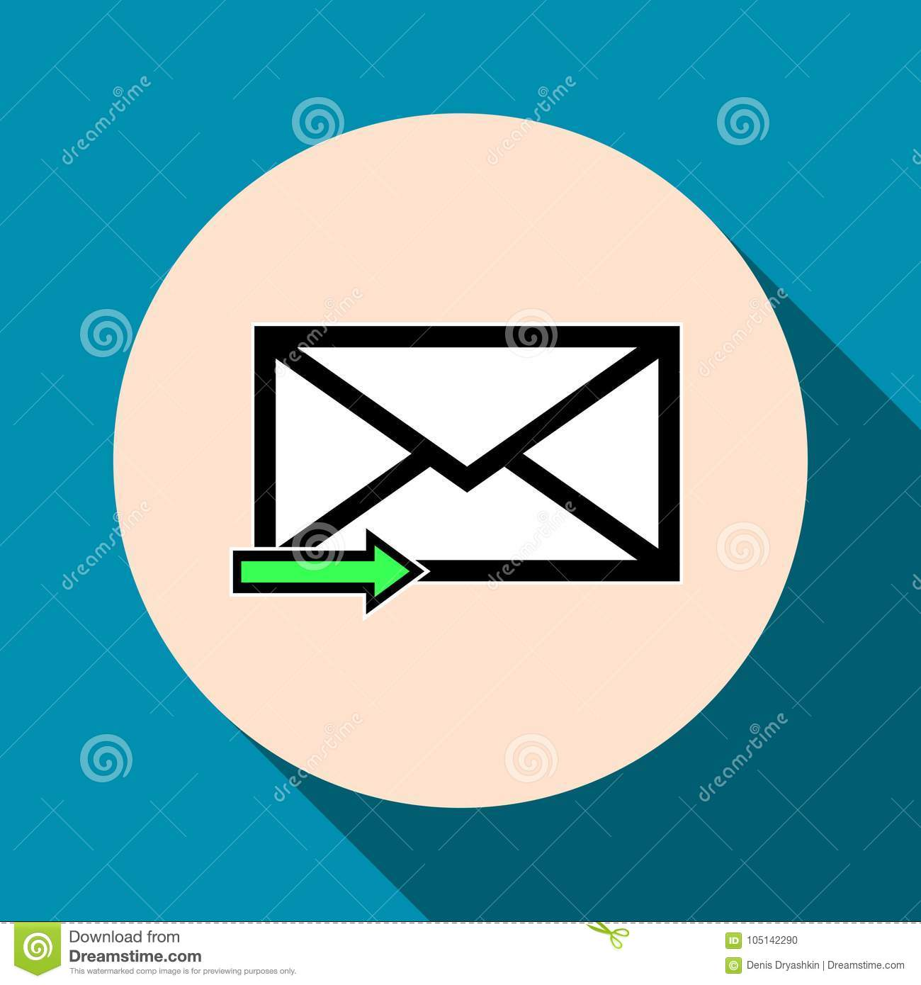 Email Symbol Letter Icon Vector Stock Vector Illustration Of