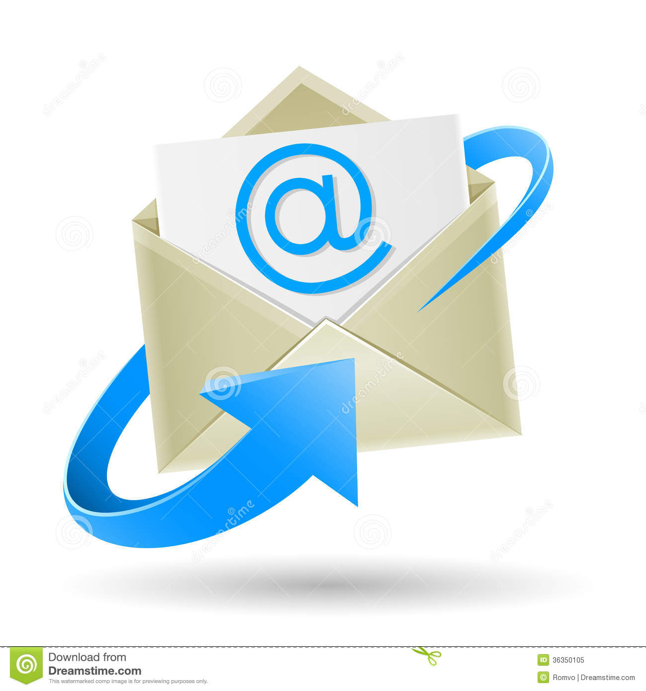 Email Wrapped Arrow Royalty Free Stock Photo - Image: 36350105