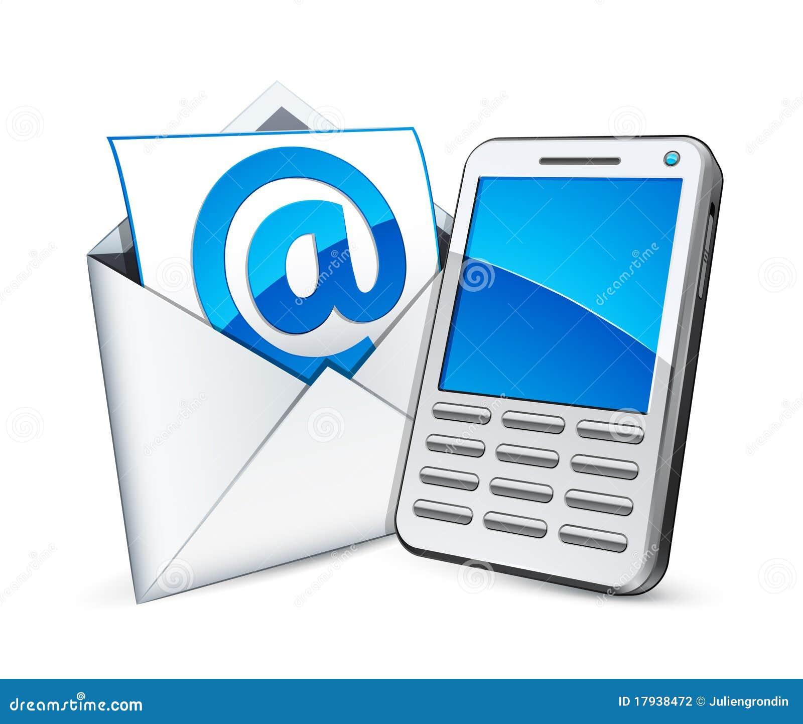 Email y tel fono ilustraci n del vector ilustraci n de for Telefono oficina de correos