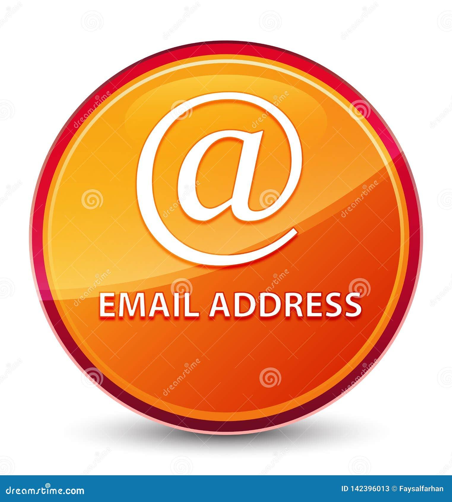 Emaila adresu round specjalny szklisty pomarańczowy guzik