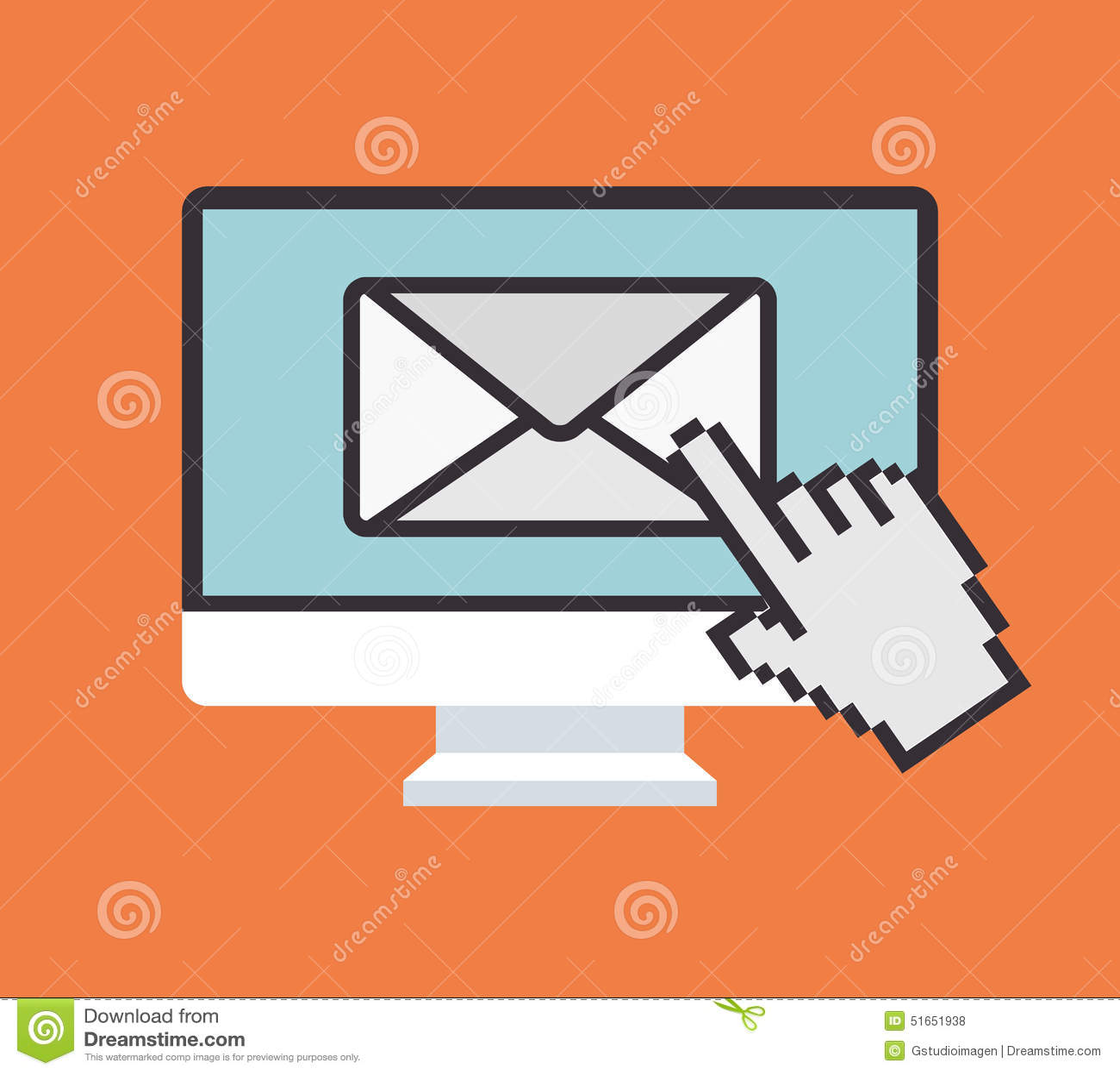 Emaila marketingu projekt, wektorowa ilustracja