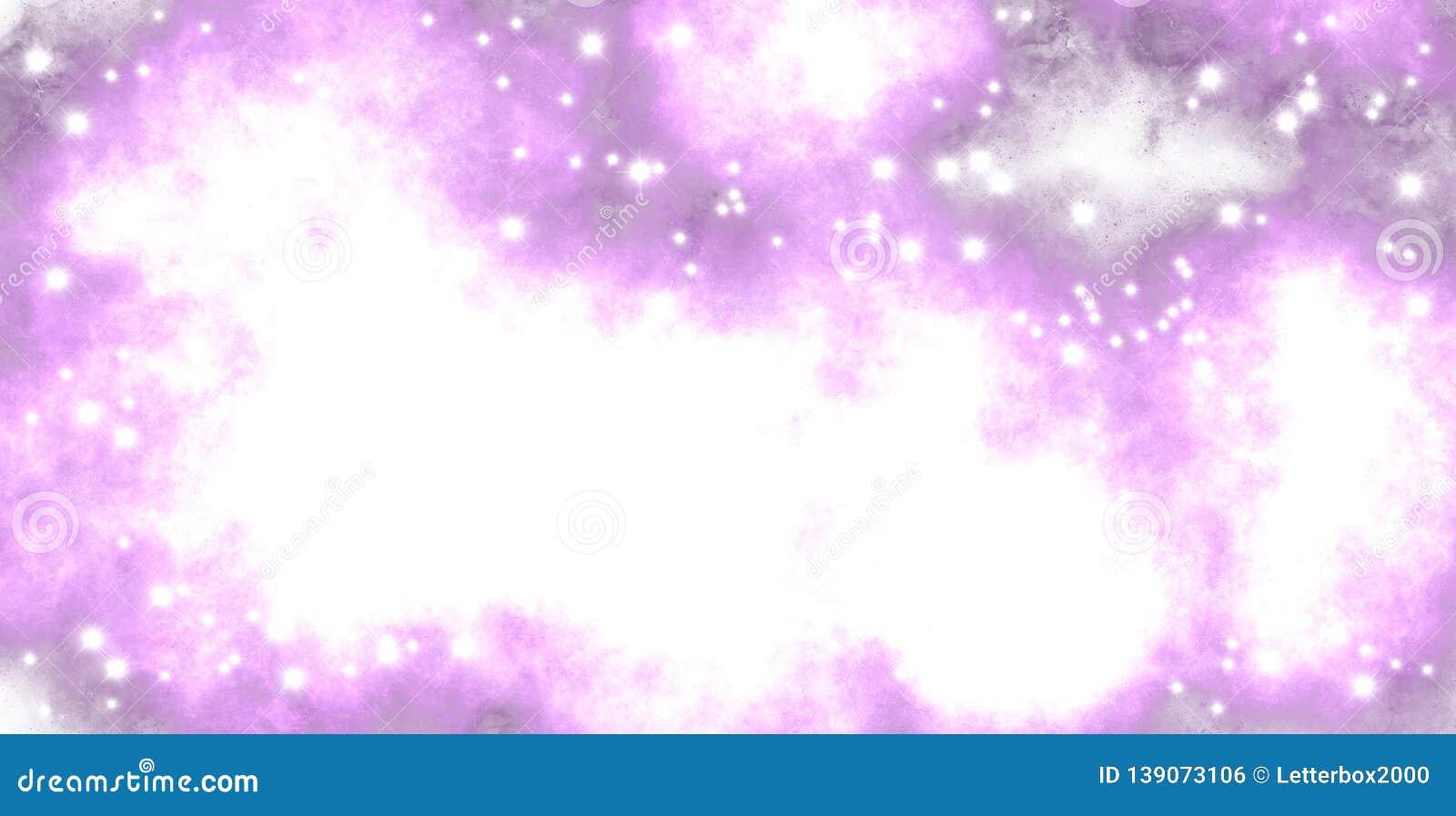 Embaçamento cor-de-rosa, estrelas brilhantes do espaço