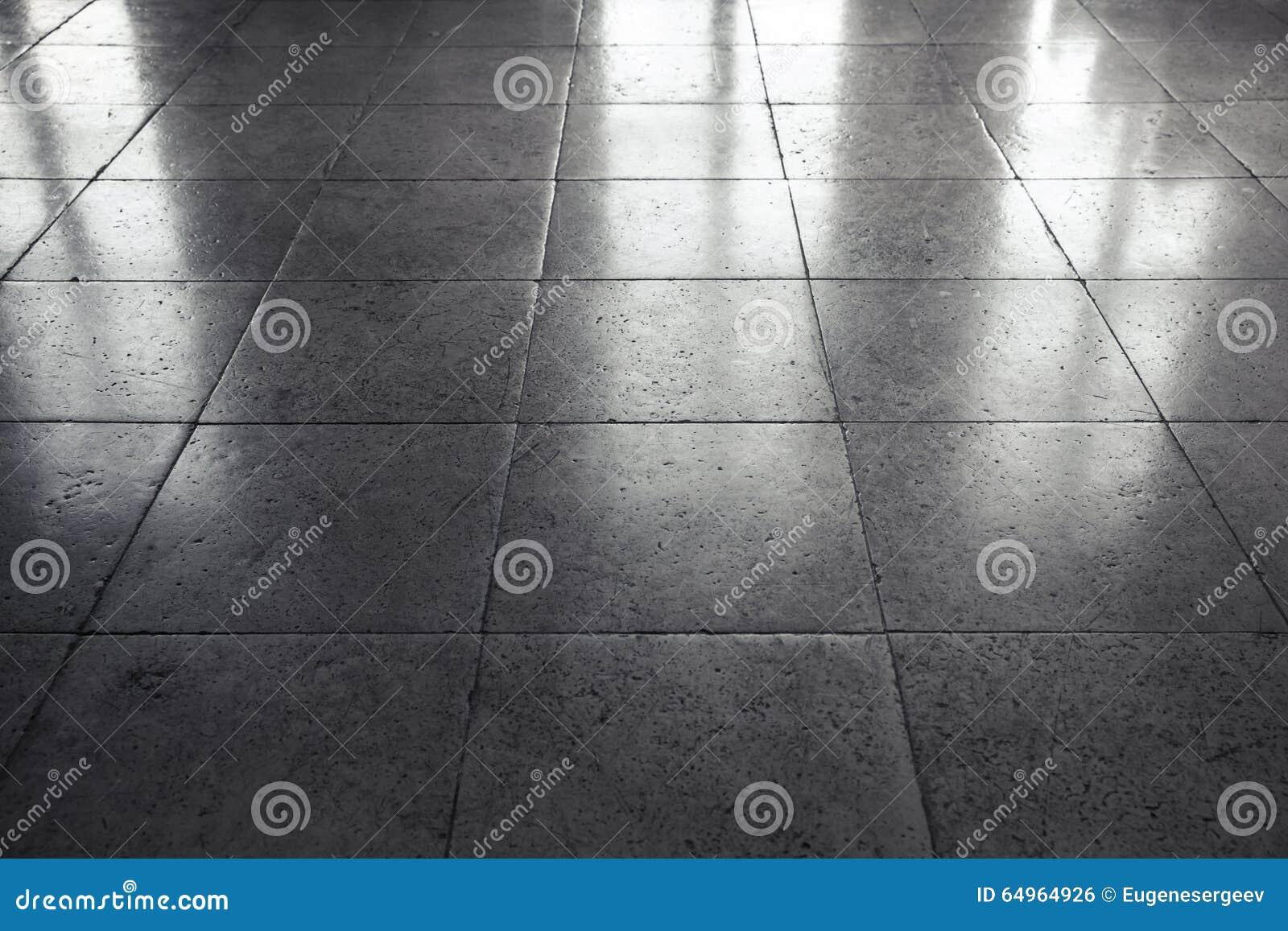 Embaldosado de piedra gris brillante del piso fondo foto for Suelo negro brillante