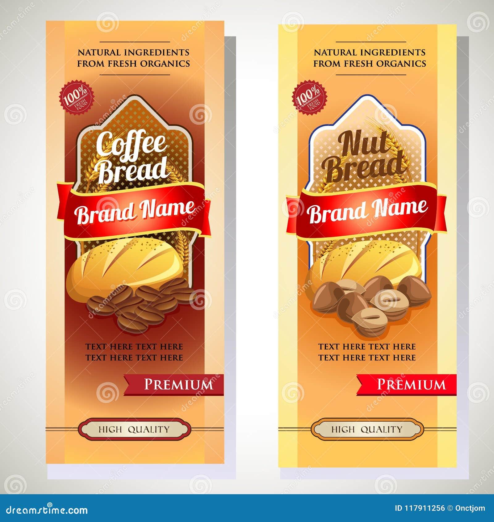 Emballage de café d écrou de pain