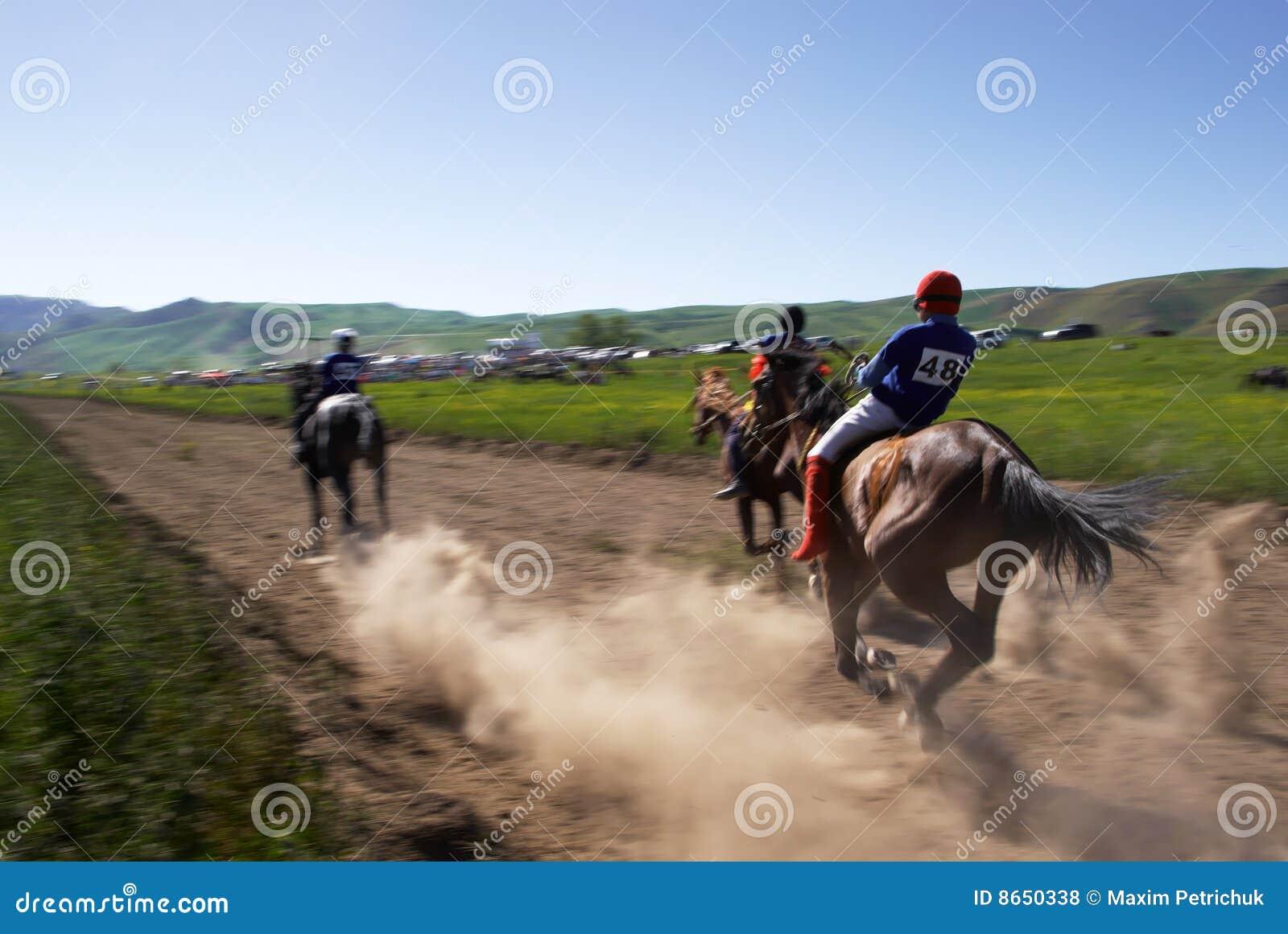 Emballage de nomade de chevaux de bayga traditionnel