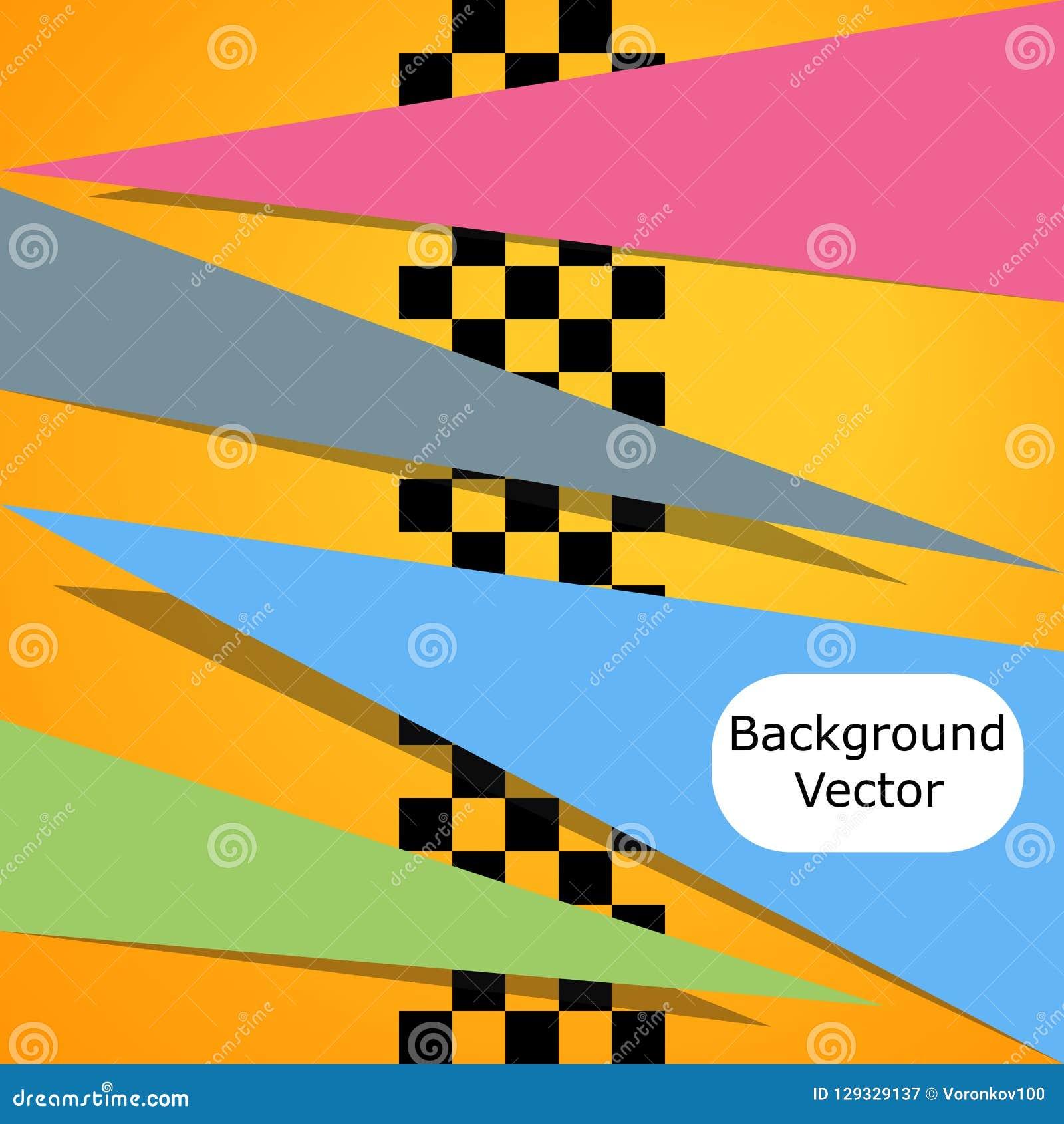 Emballage du fond carré Dirigez l abstraction dans l emballage, style d échecs avec l espace pour votre texte Illustration pour v