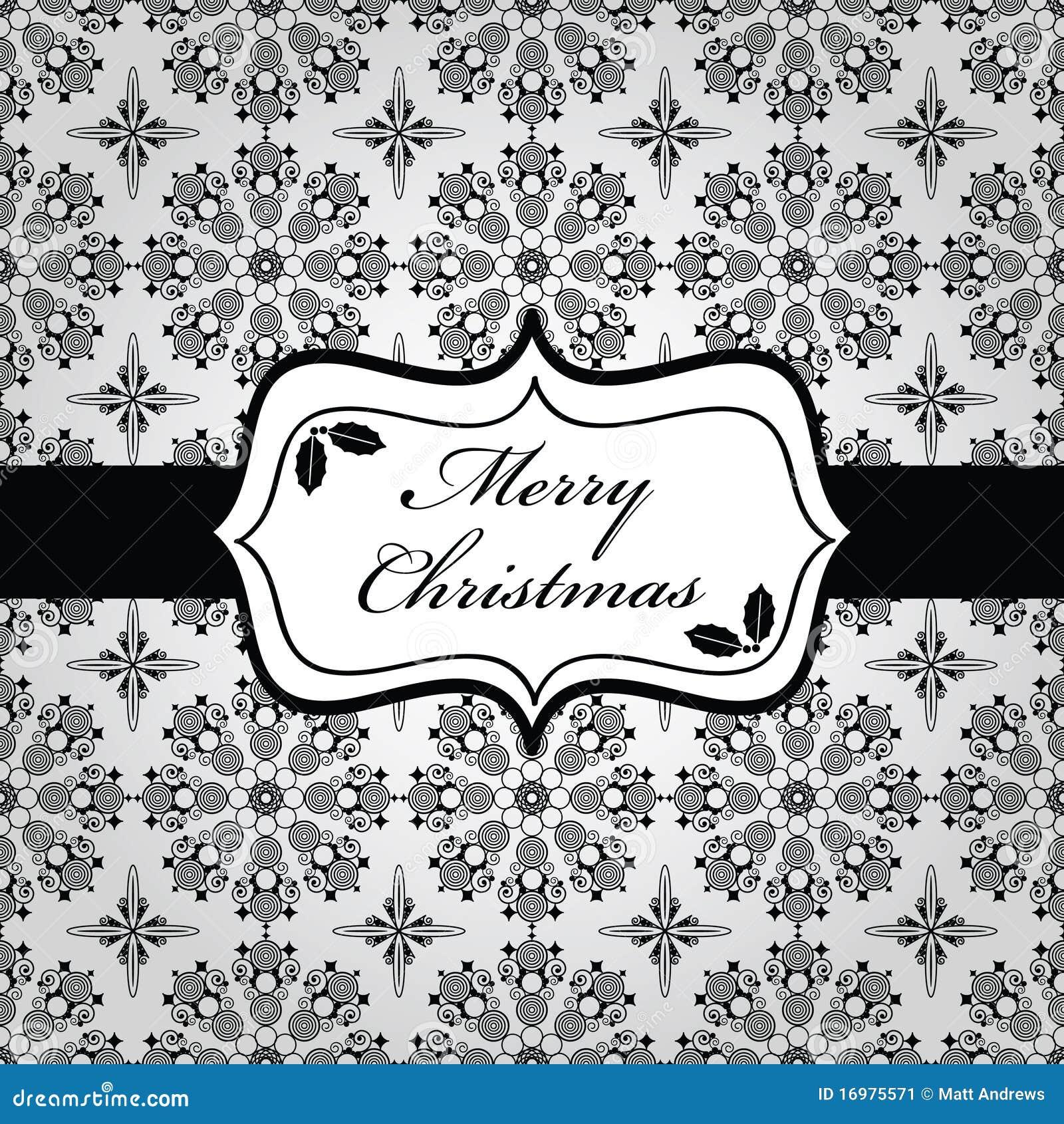 emballage noir et blanc de no l image stock image 16975571. Black Bedroom Furniture Sets. Home Design Ideas