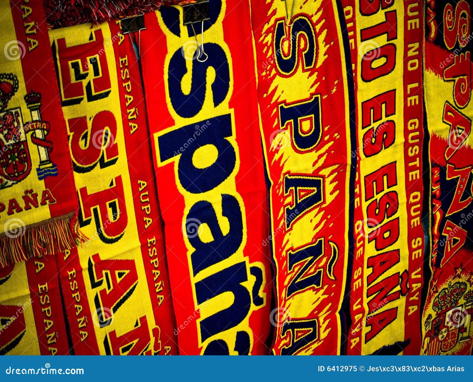 Embandeira espanhóis dos suportes