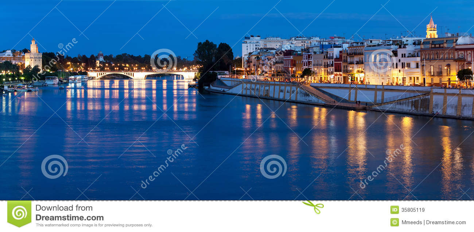Embankment of Sevilla, Guadalquivir river, Spain