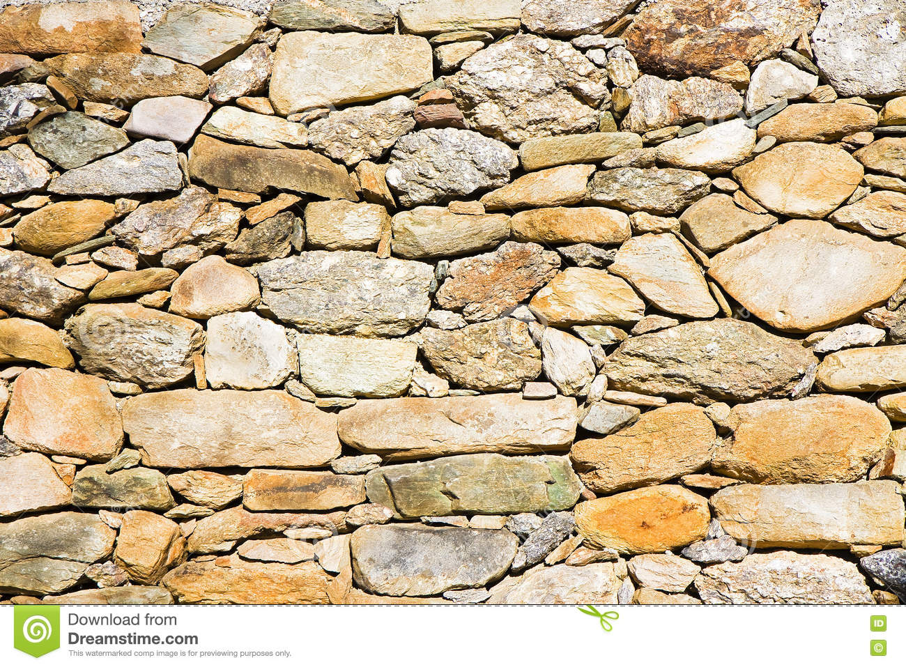 A Wall Built Of Building Blocks Stock Photo ...