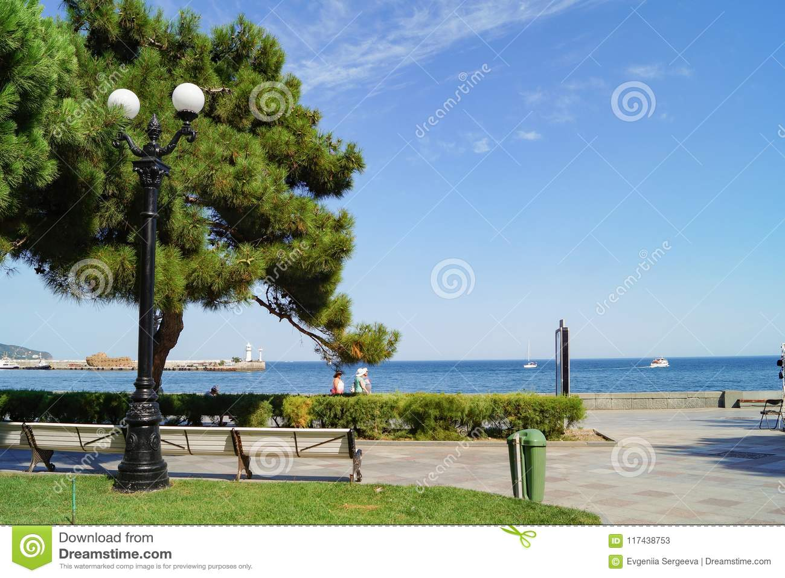 Embankment of Yalta, Crimea