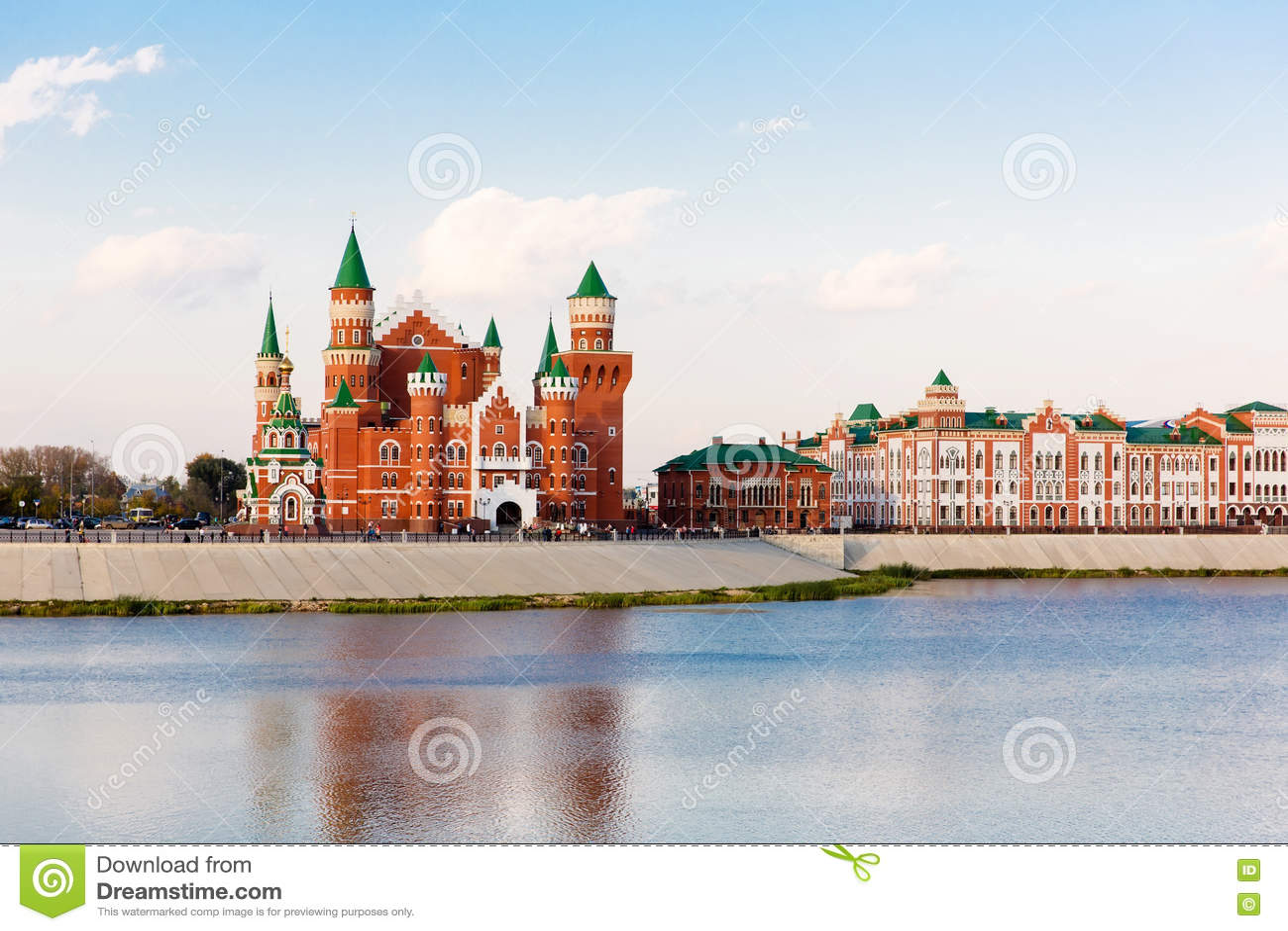 Embankment in Yoshkar-Ola. Russia
