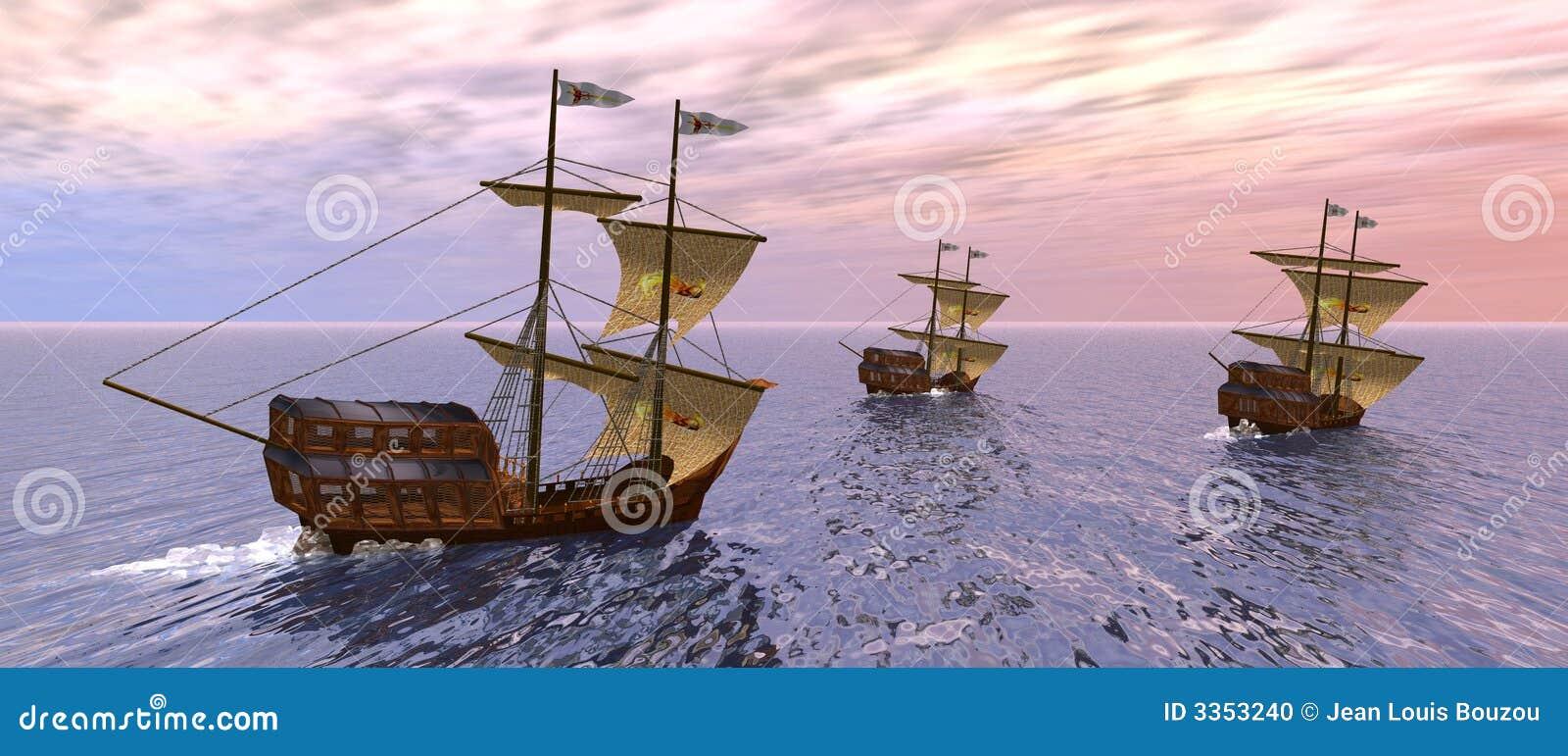 Embarcações na manhã