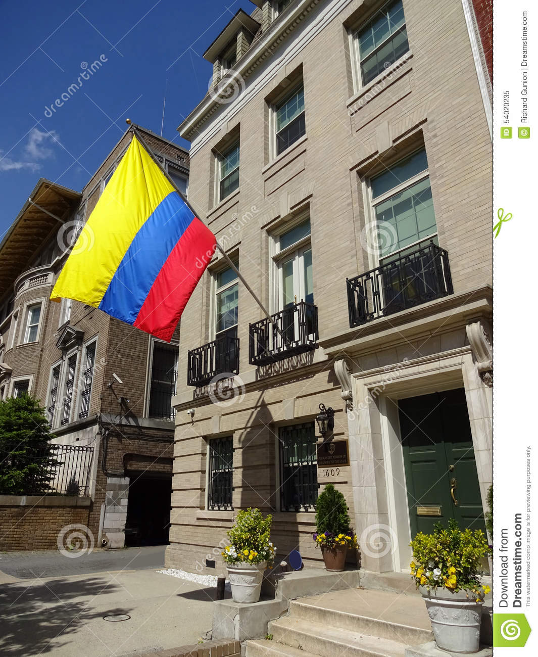 Embassy Of Colombia In Washington DC Stock Image - Image of colombia