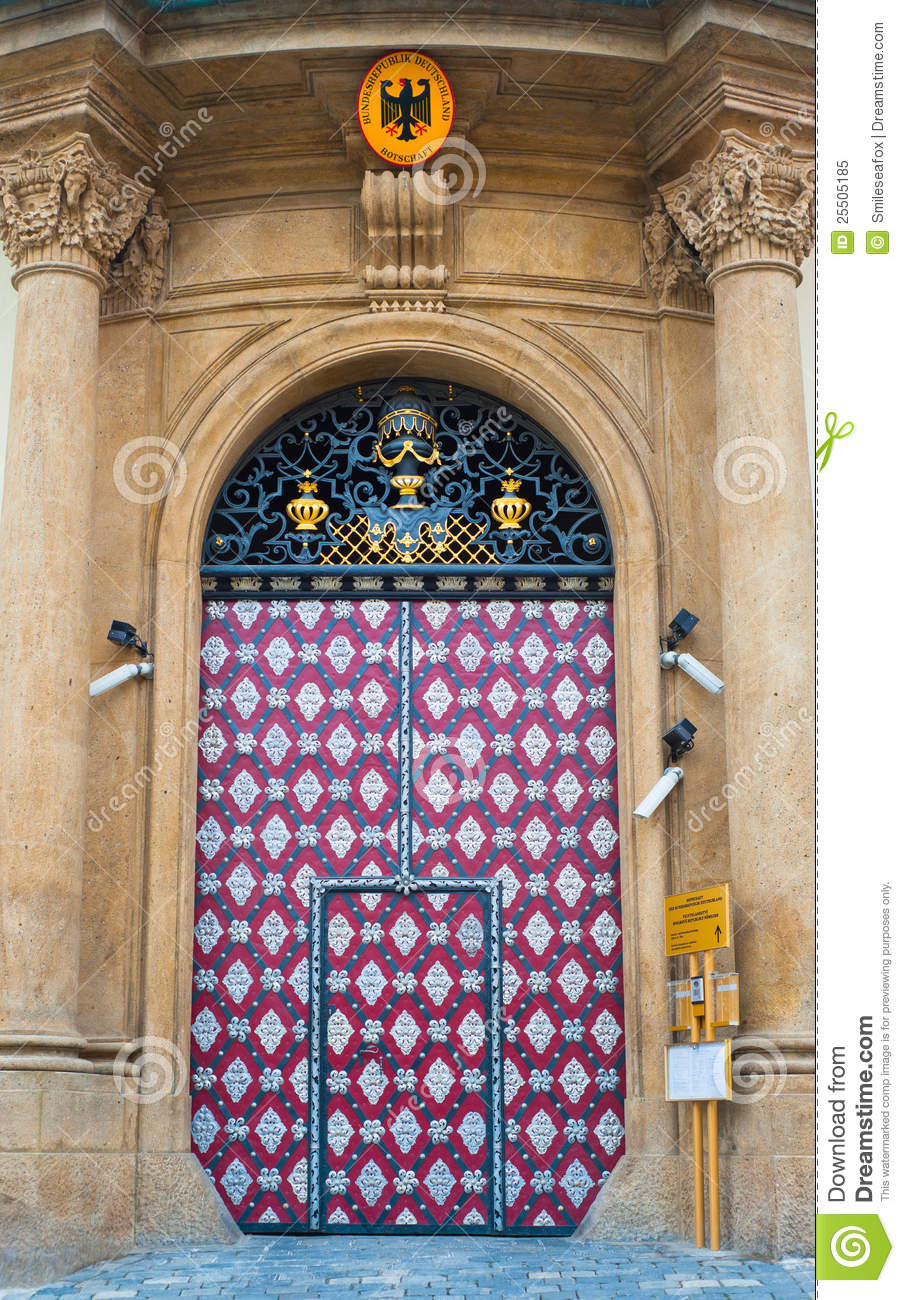 Embassy of germany in prague royalty free stock photo for Door z prague