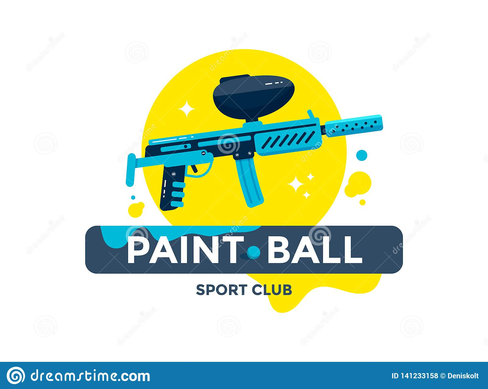 Emblème de club de sport de Paintball ou conception de logo
