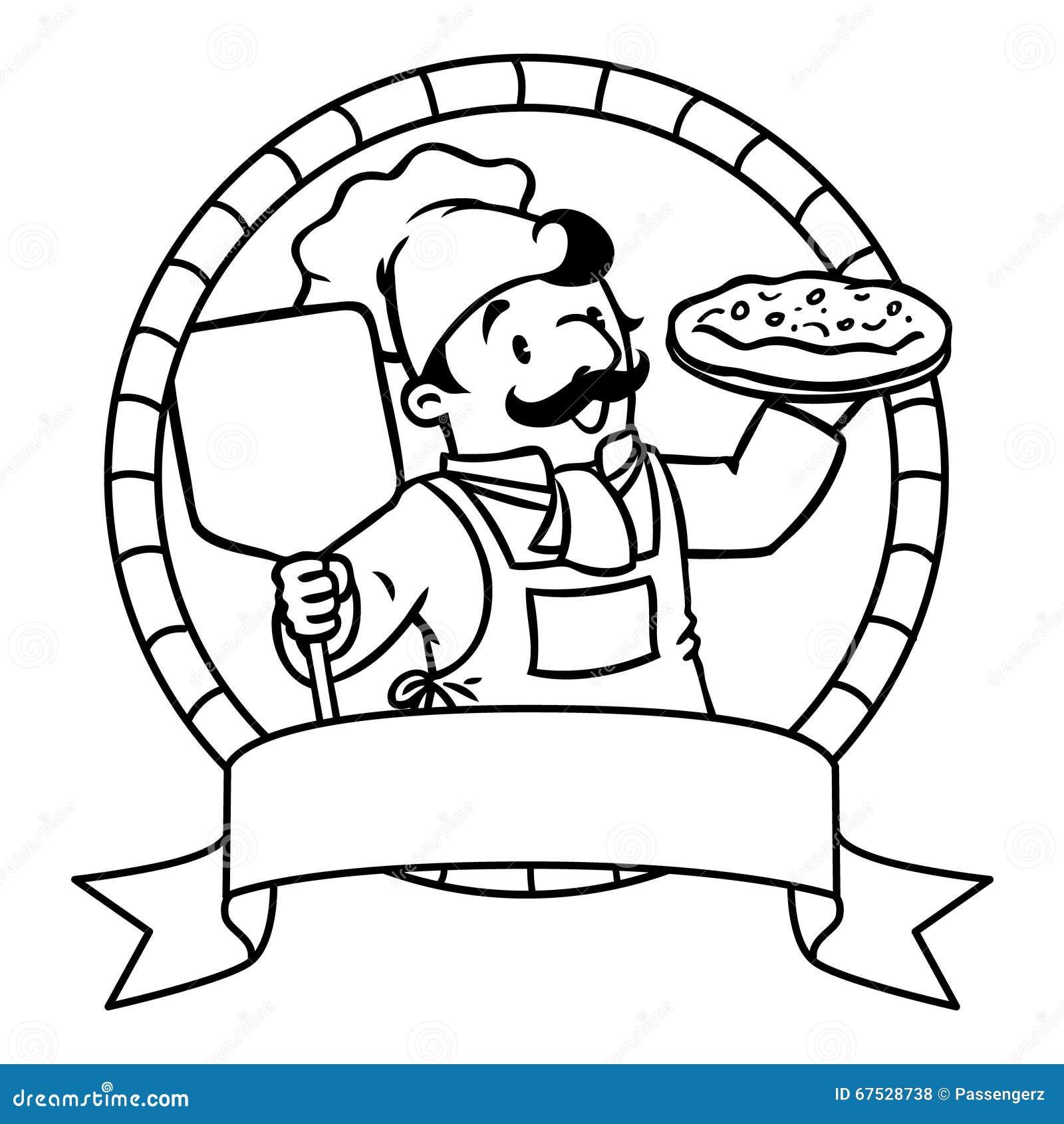 embl me de livre de coloriage avec le cuisinier ou le chef. Black Bedroom Furniture Sets. Home Design Ideas