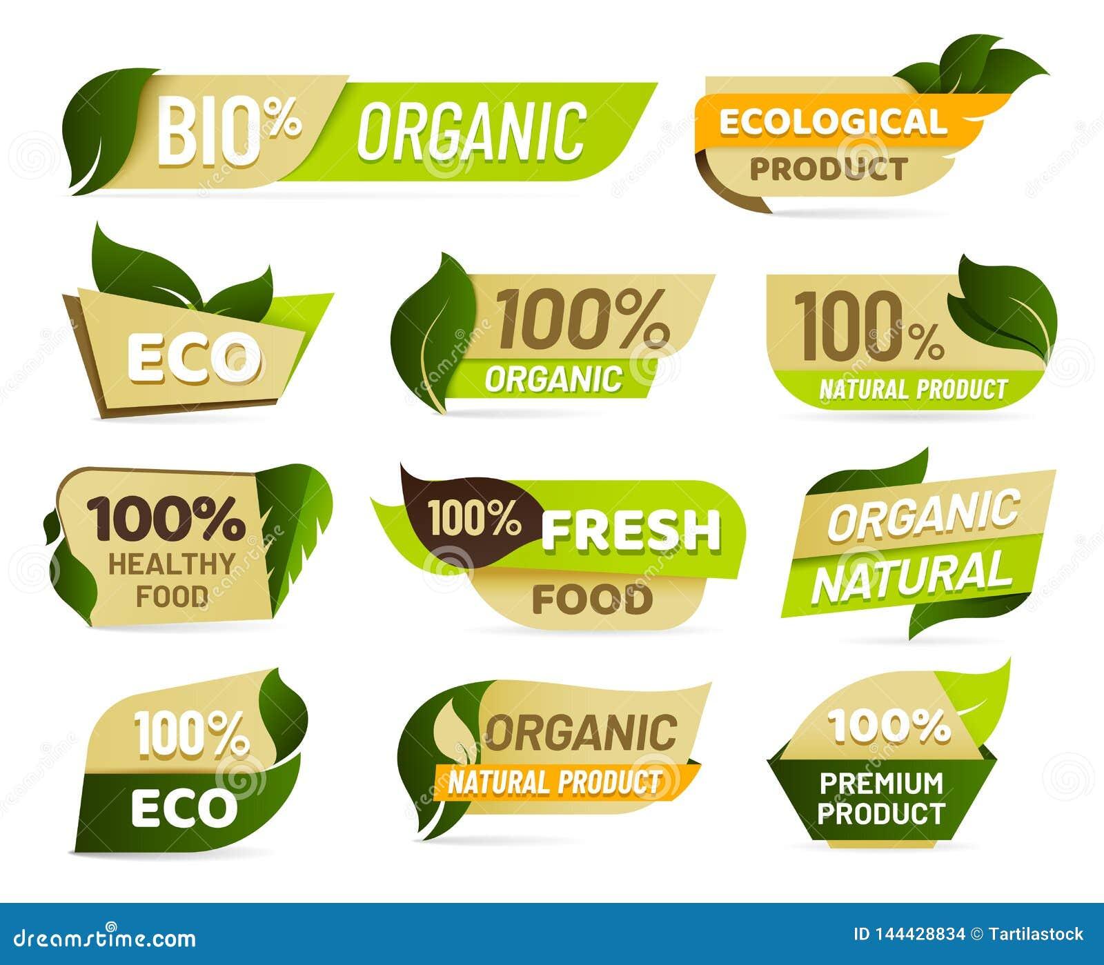 Emblème de Vegan Insigne frais de produit de nature, autocollant végétarien sain de produits alimentaires et labels écologiques n
