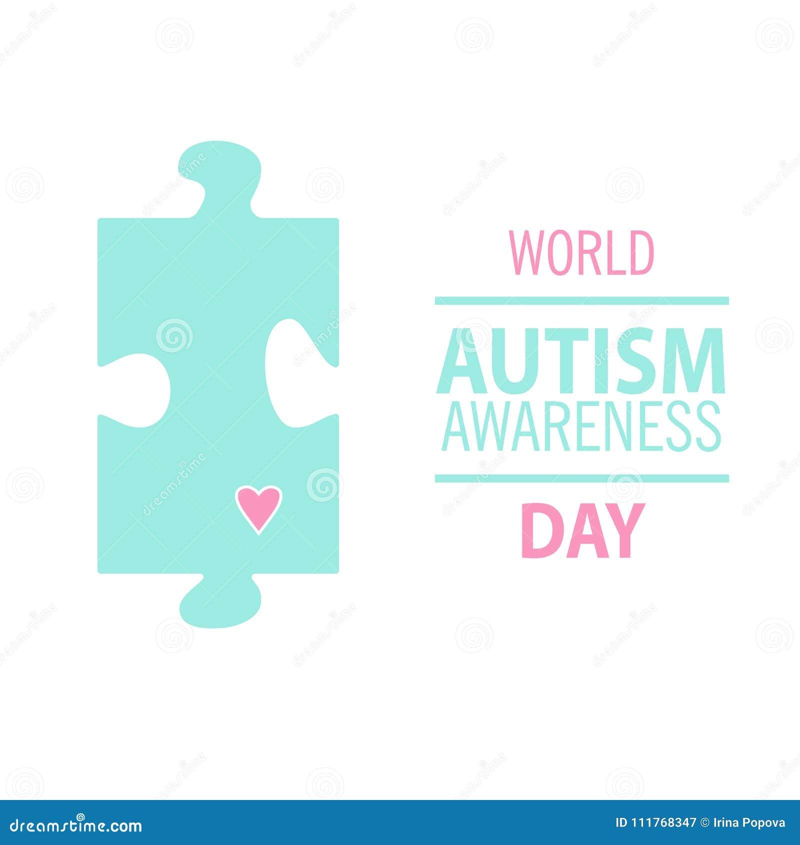 Emblème fait à partir des morceaux de puzzle et des couleurs d autisme