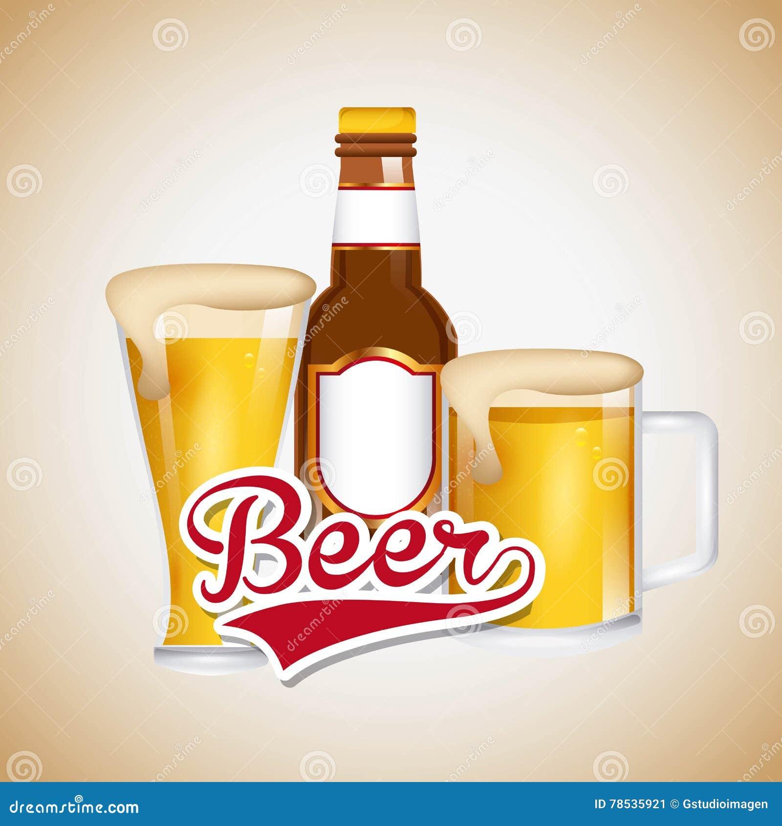 Emblème glacé de bière