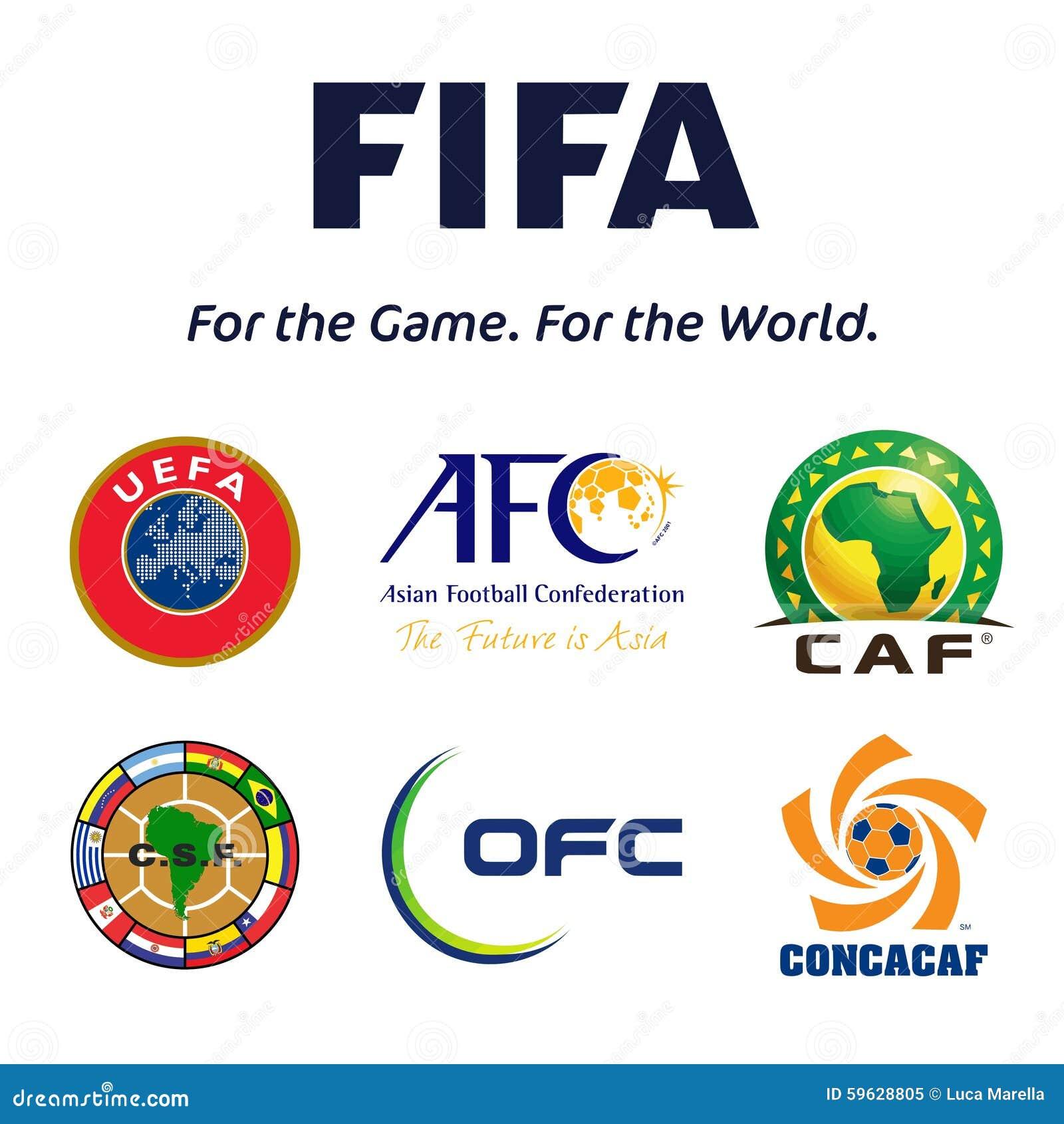 Emblèmes de confédérations du football