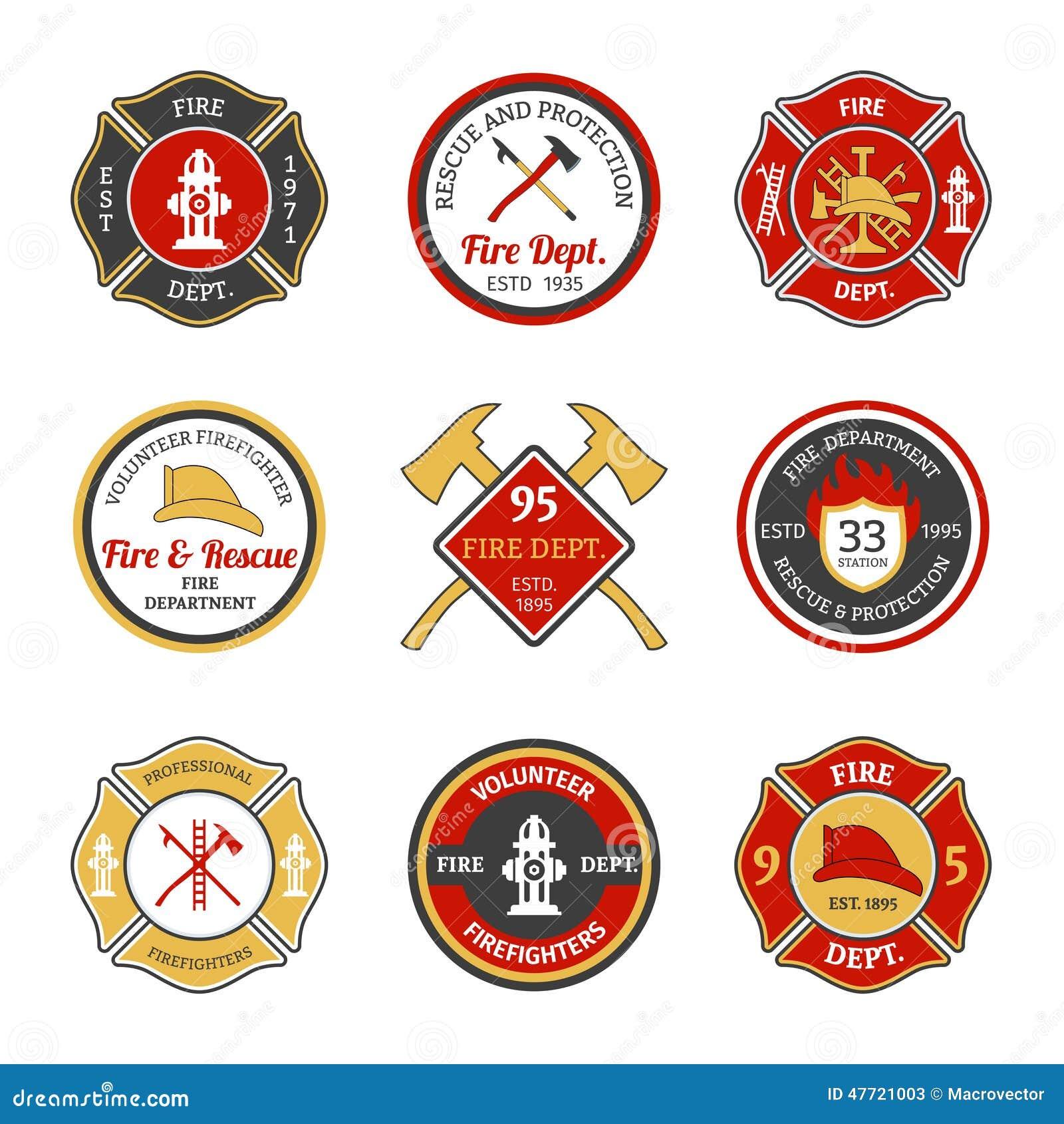 Emblèmes de corps de sapeurs-pompiers