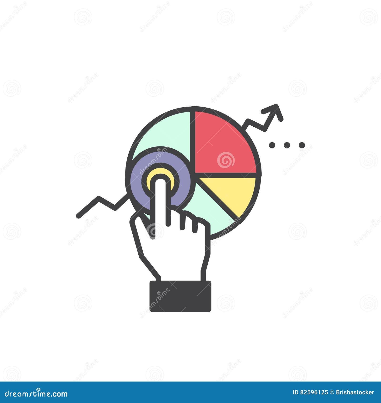 Embleem van de Informatie van Webanalytics en de Statistiek van de Ontwikkelingswebsite met Eenvoudige Gegevensvisualisatie met G