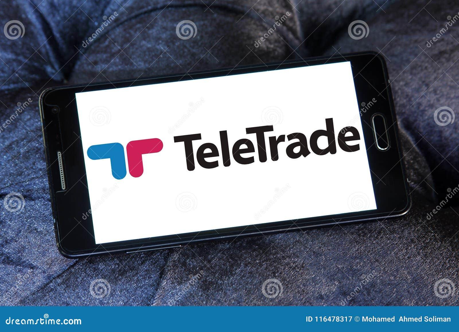 Embleem van de TeleTrade het online makelaar