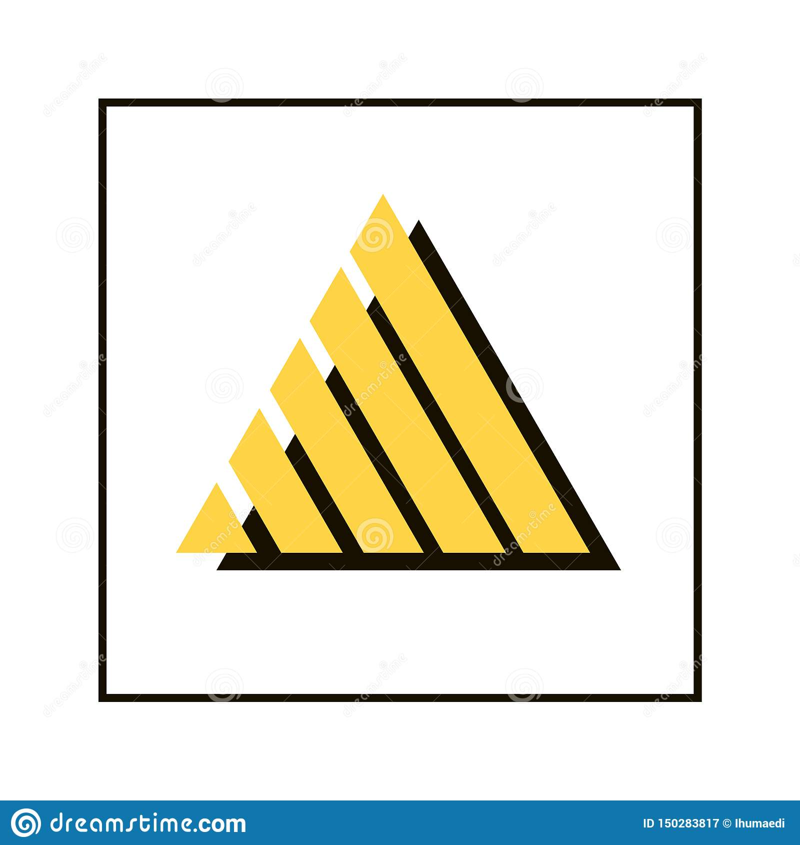 Embleem van driehoeks dubbele vorm
