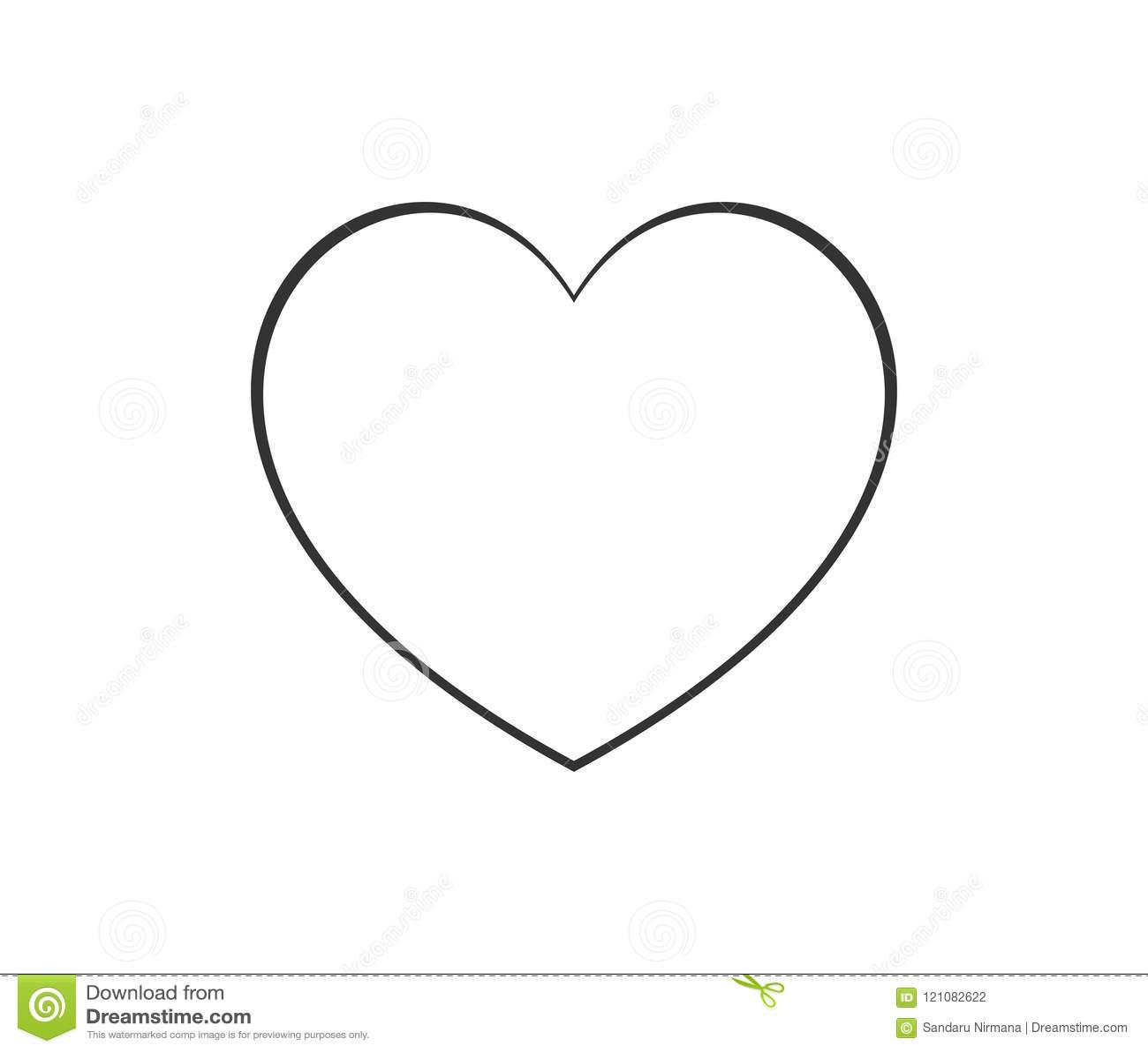 Embleem van het de lijnpictogram van de hartvorm het dunne Lineair vectorsymbool op witte achtergrond