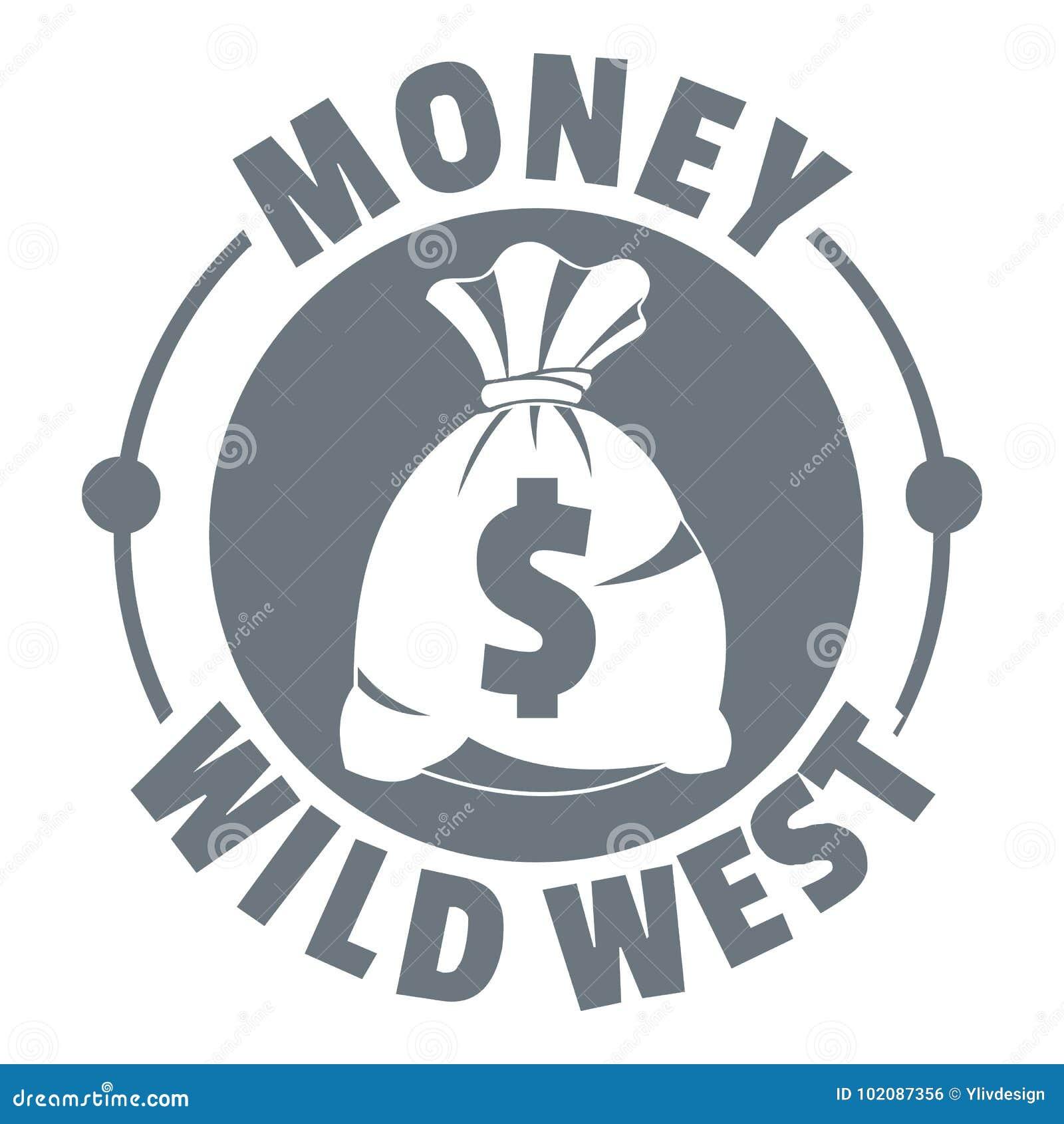 Embleem van het geld het wilde westen, uitstekende stijl