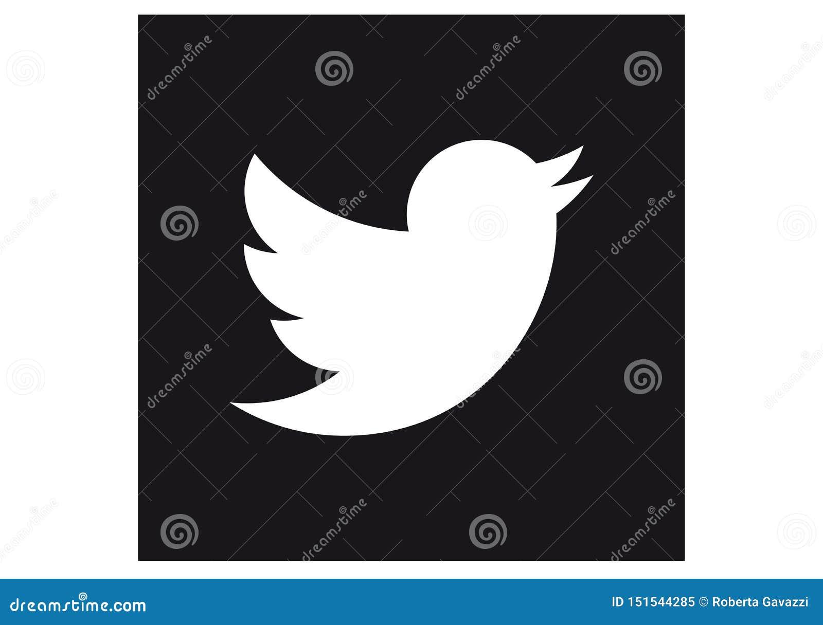 Embleem van het sociale netwerk Twitter