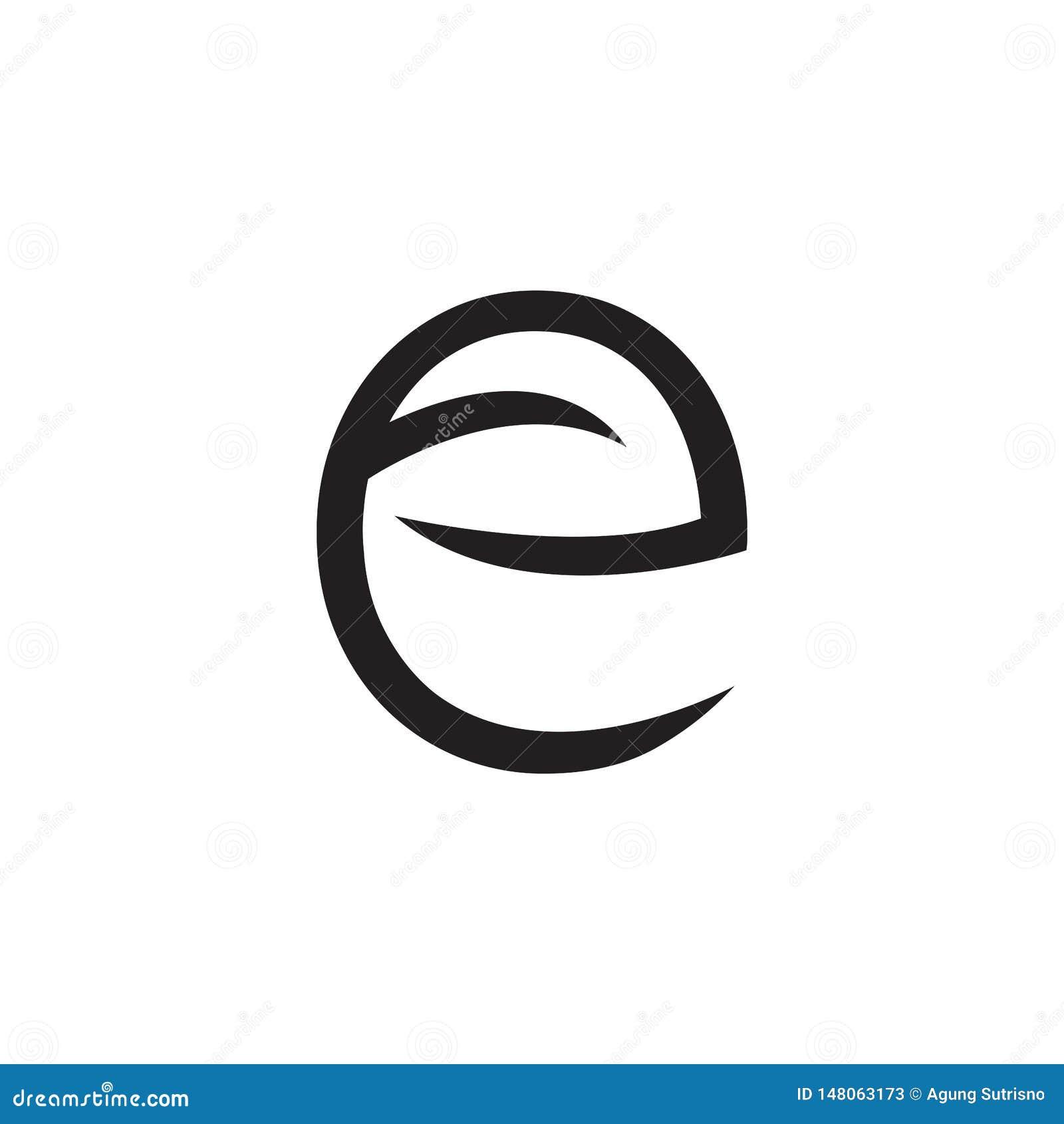 Embleembrief E met bladeren en pijlen - Vector