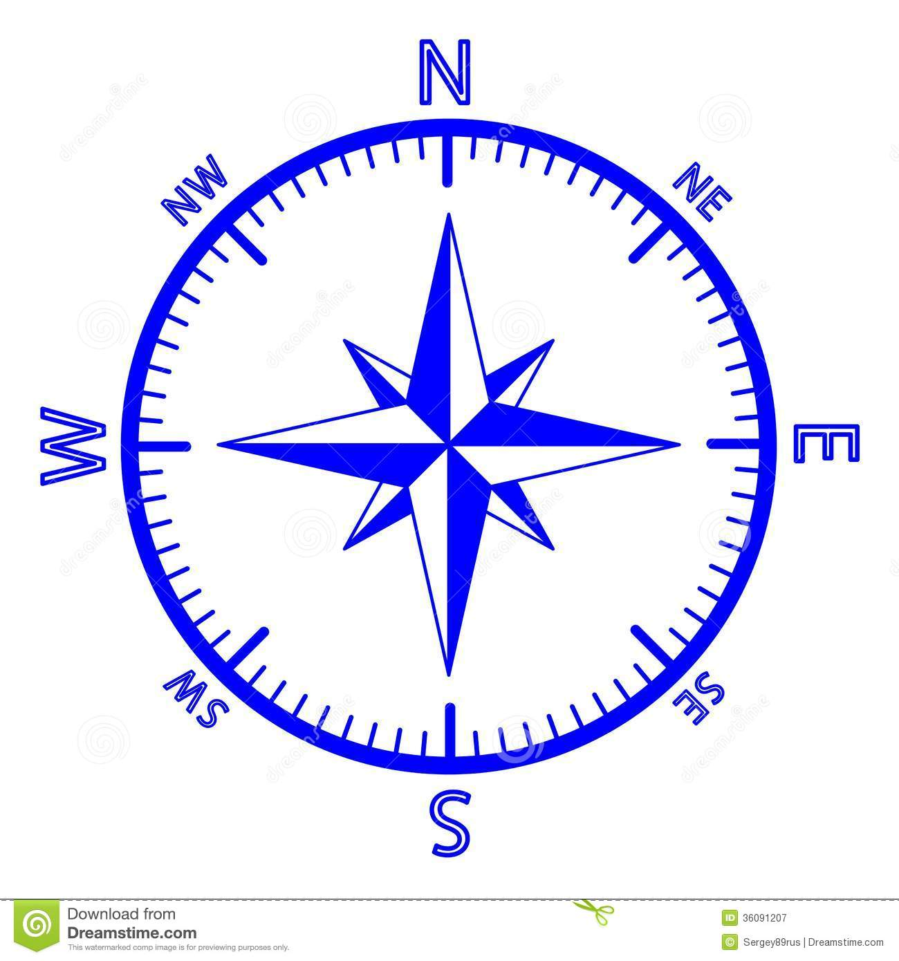 The Emblem Of The Compass Rose. Royalty Free Stock Photography - Image ...