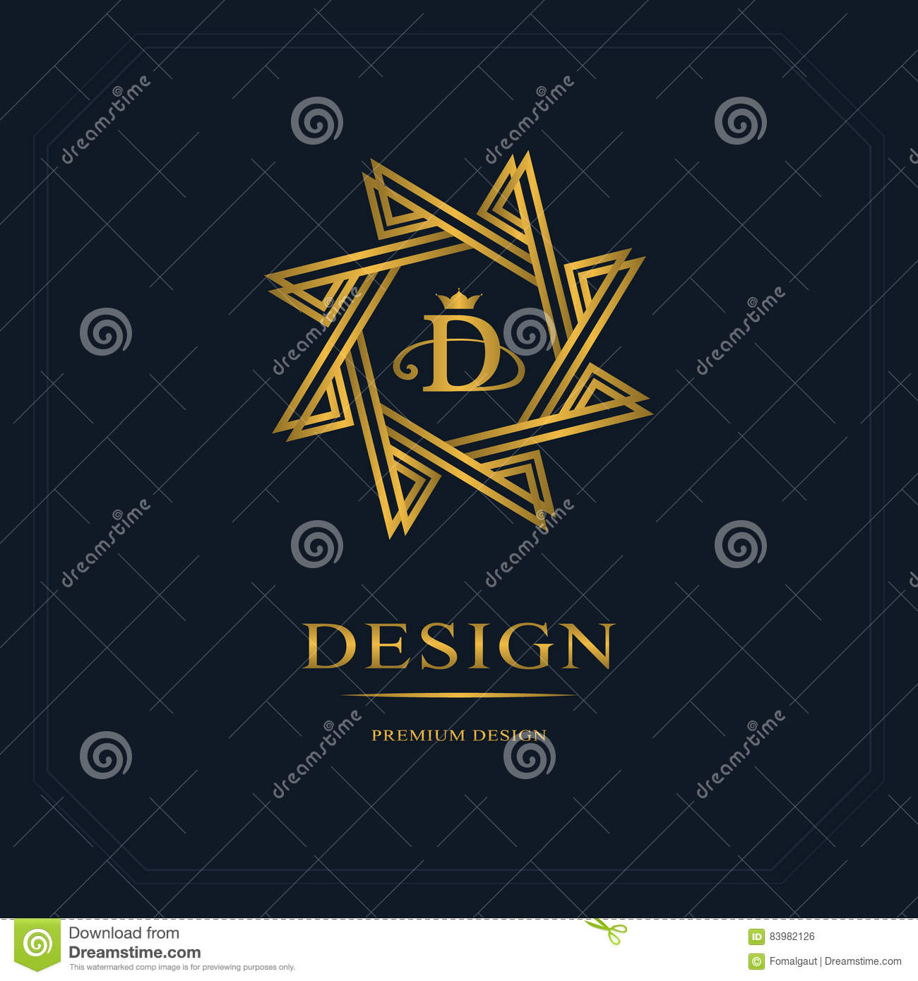 Emblem Eight Pointed Star Creative Logo Design Templates Abstract Minimalistic Design Geometric And Simple Monogram Business S Stock Vector Illustration Of Heraldry Hipster 83982126