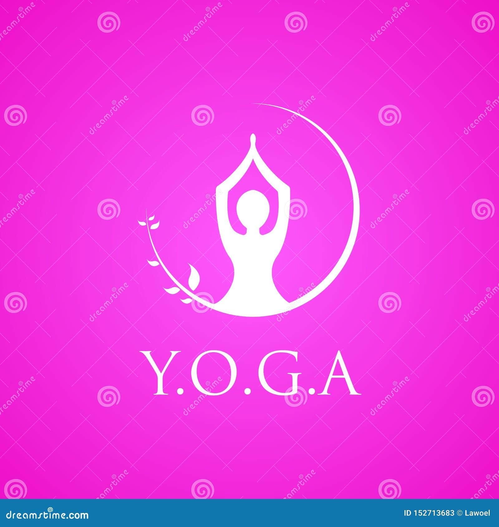 Emblem för yogalogovektor