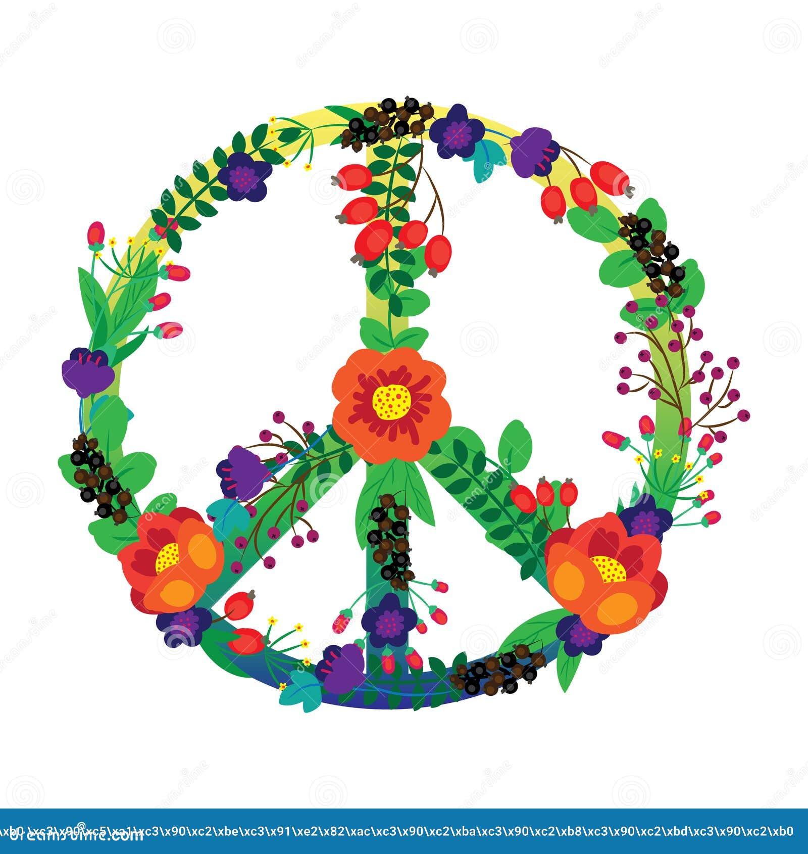 how to draw hippie flowers