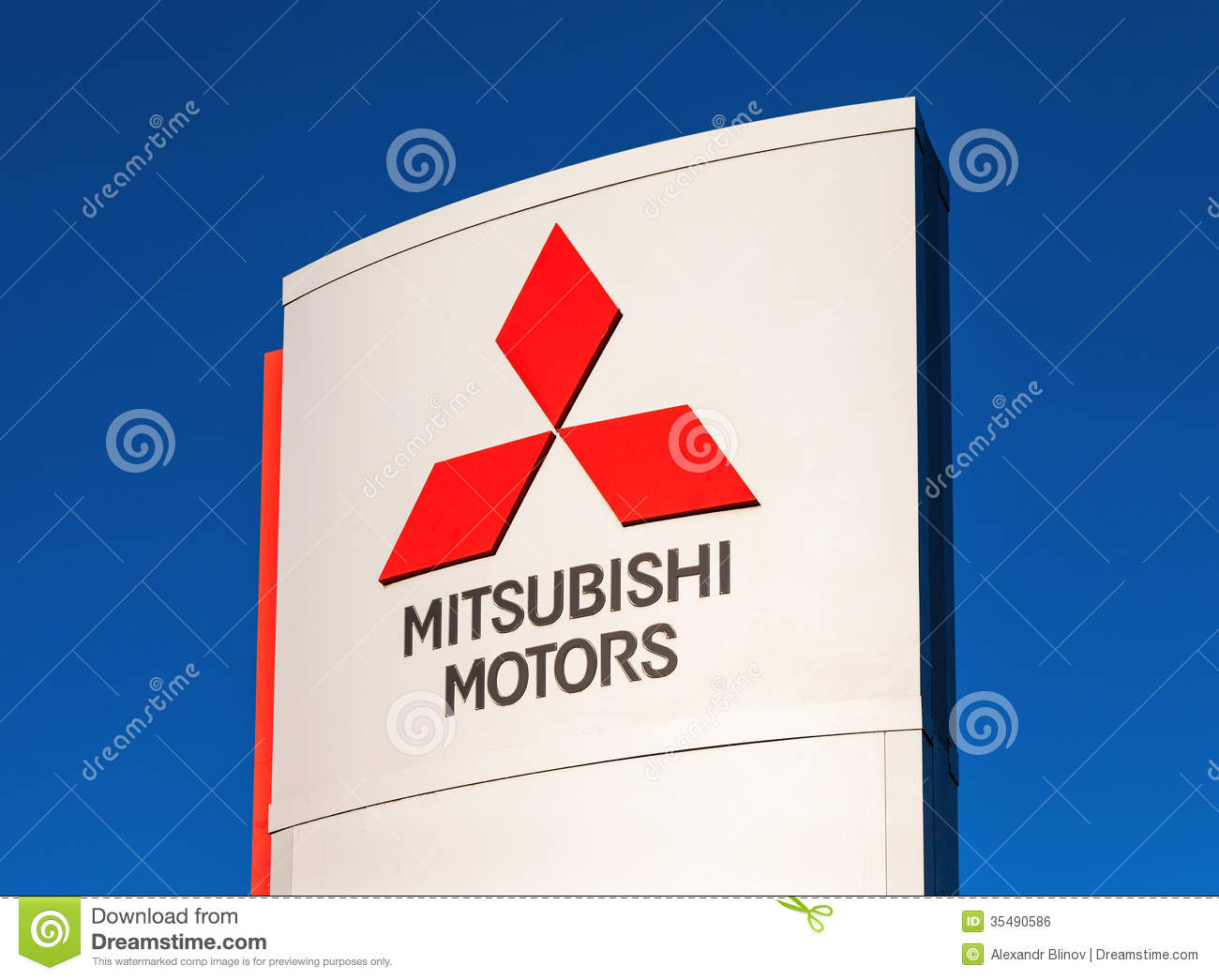 The Emblem Mitsubishi Editorial Photo Image Of