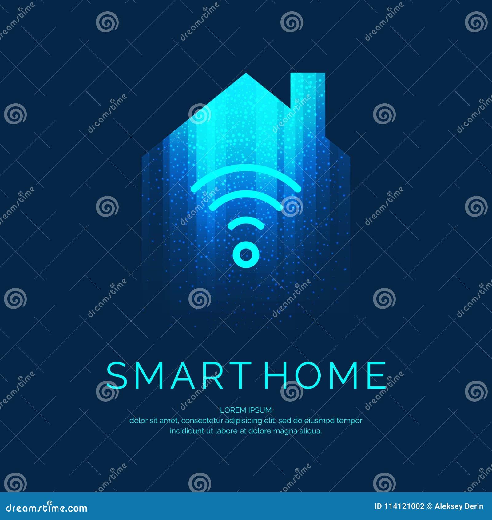 Emblema casero elegante para las tecnologías digitales
