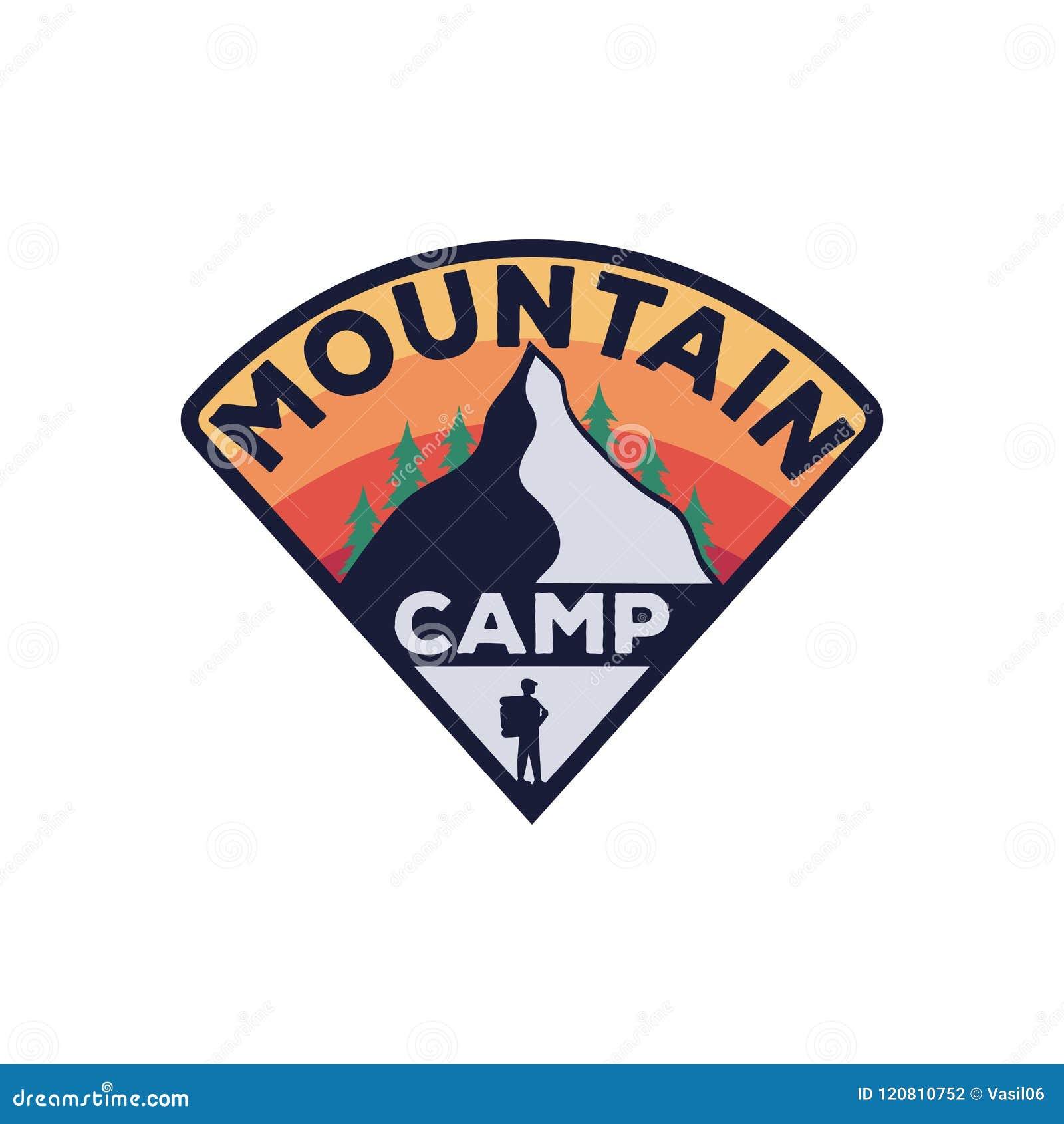 Emblema d annata di campeggio