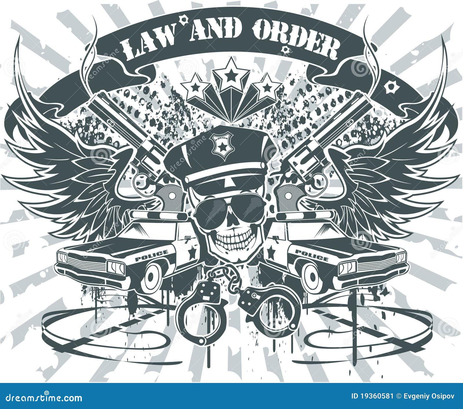 Emblema da lei e do pedido