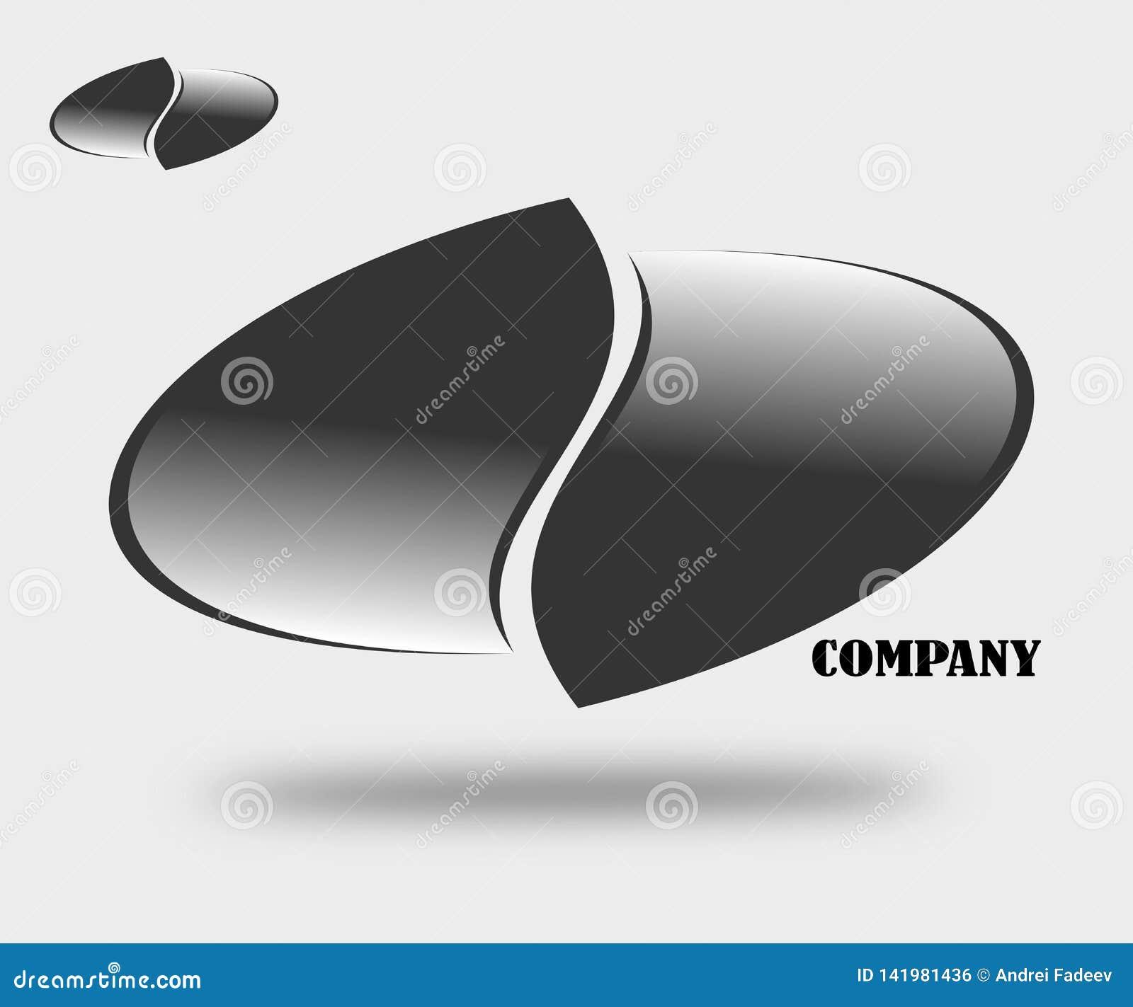 Emblema de dibujo del logotipo de la compañía
