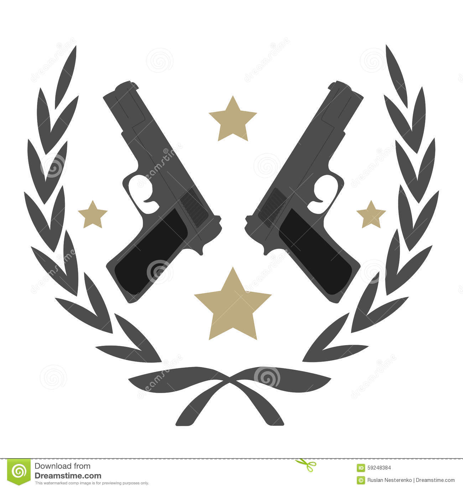 Emblema de la pistola