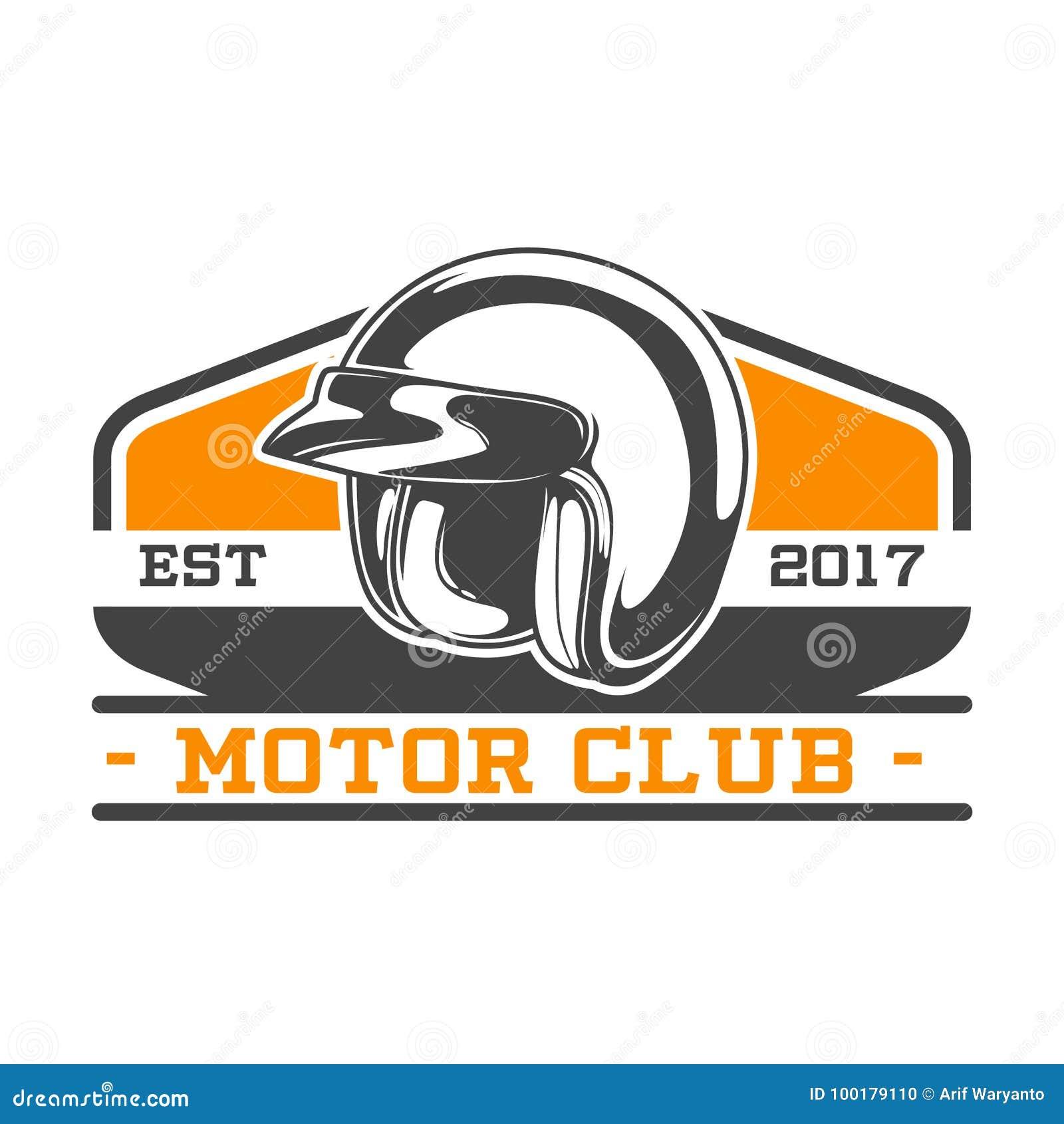 EMBLEMA DEL CLUB DEL MOTORE DI DUE COLORI