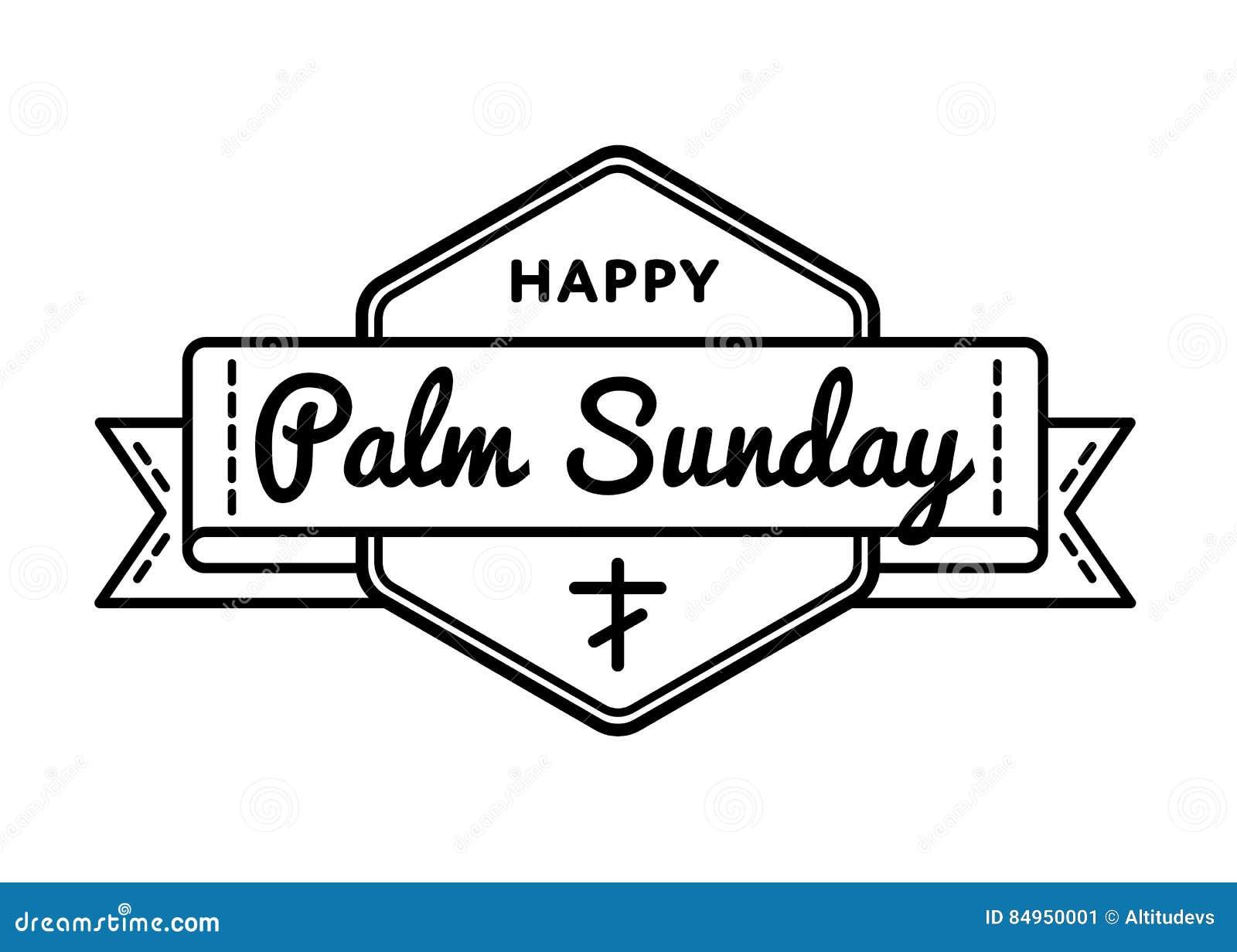 Emblema di saluto di festa di Domenica delle Palme