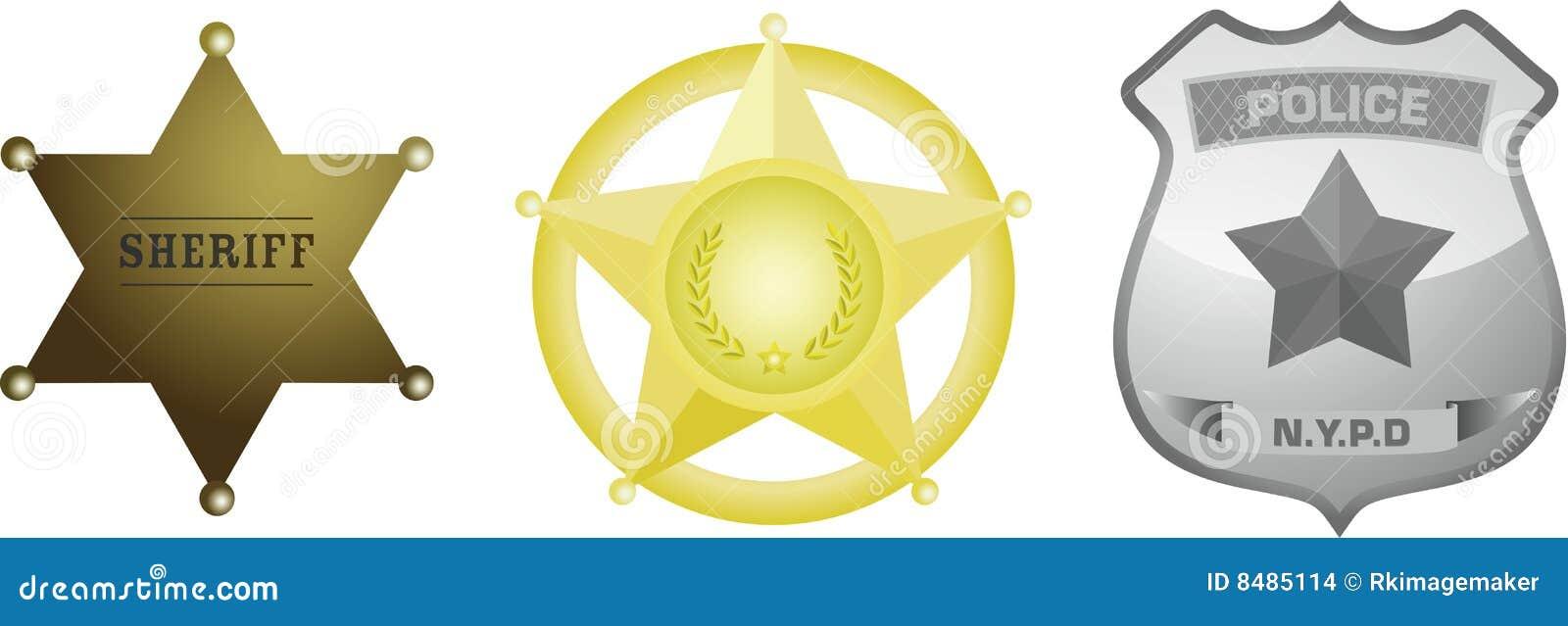 Emblema do xerife da polícia
