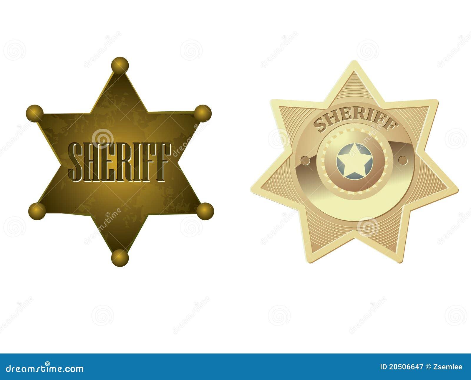 Emblema dourado do xerife