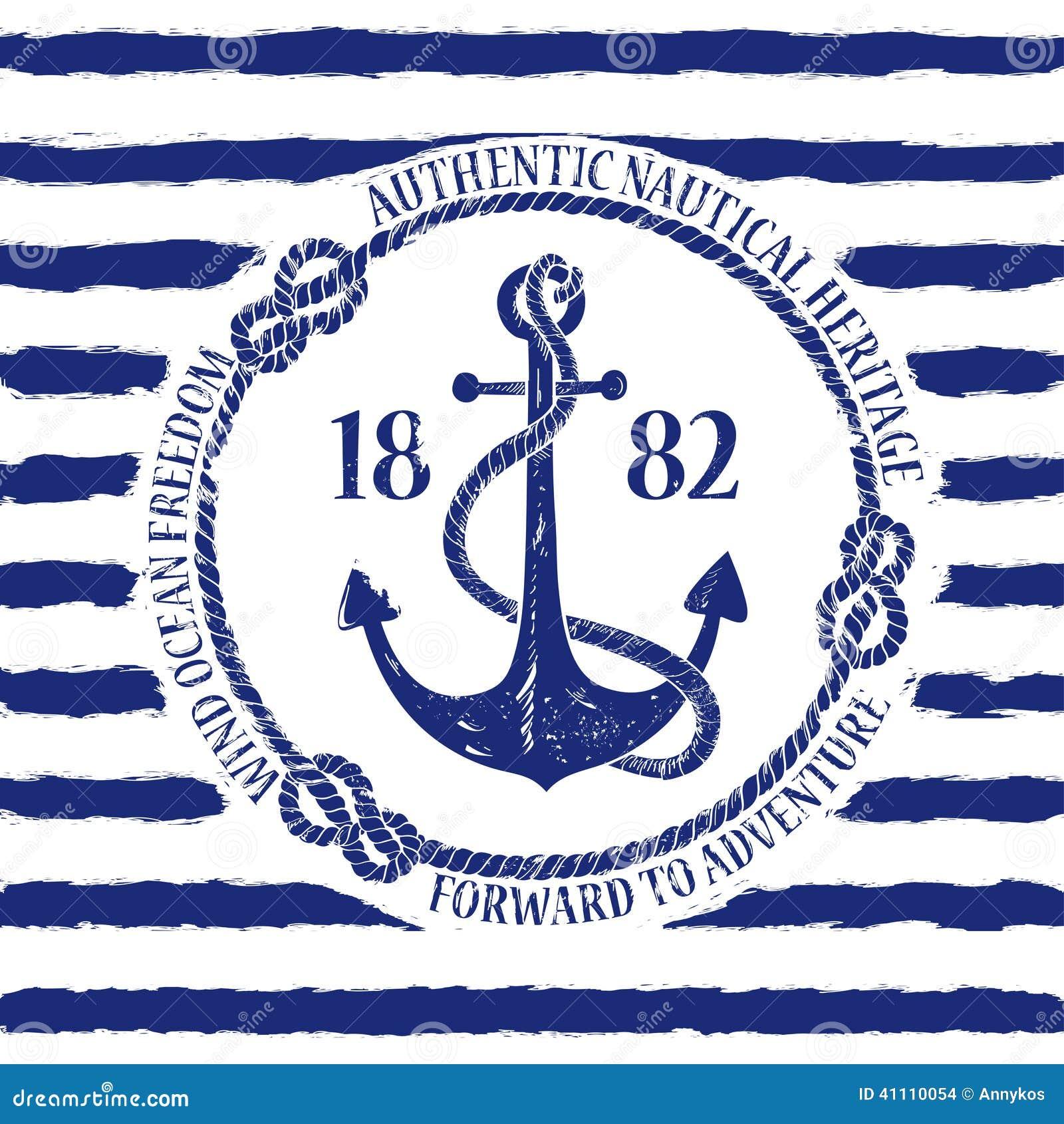 Emblema náutico con el ancla