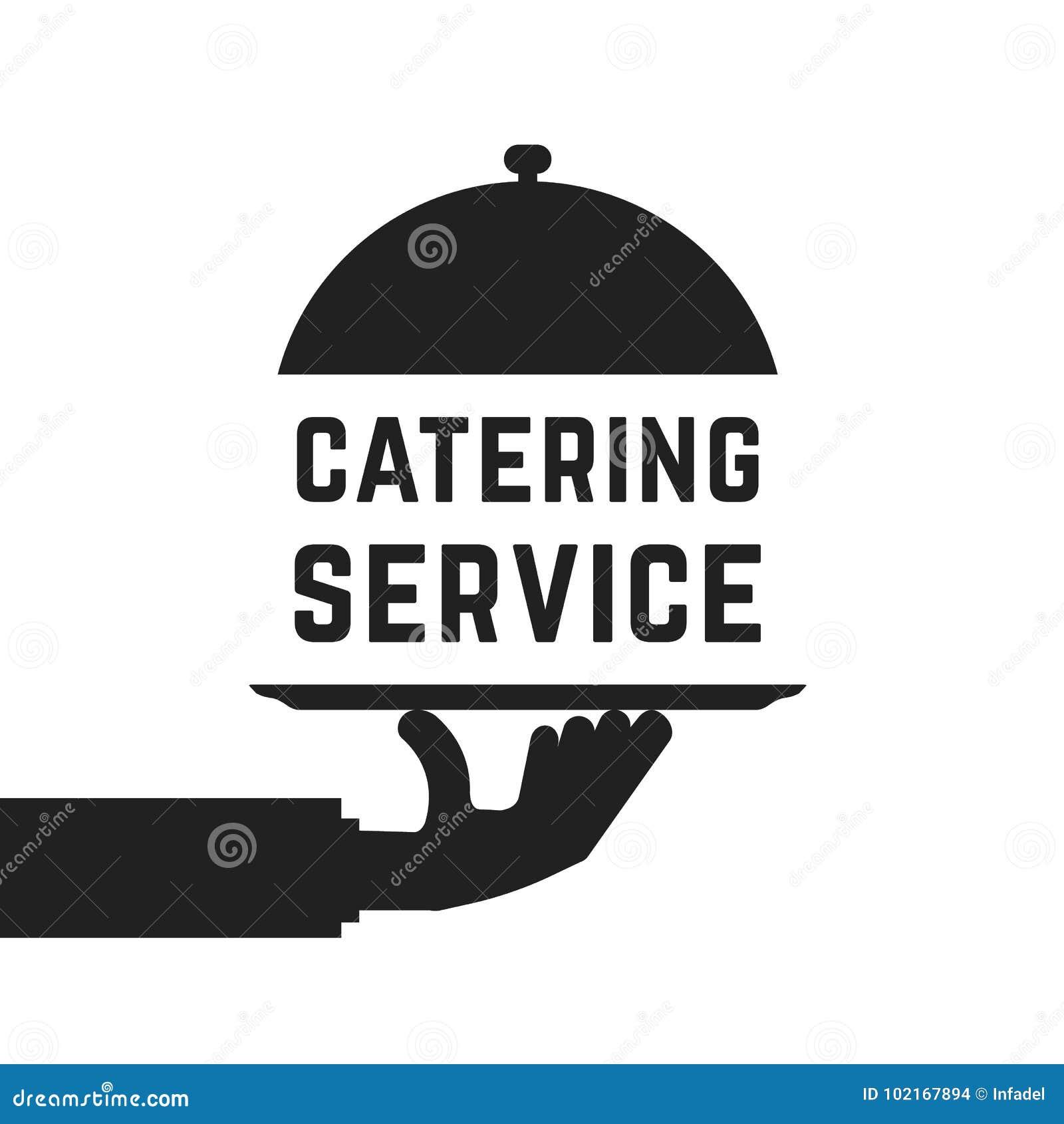 Emblema nero di servizio di approvvigionamento